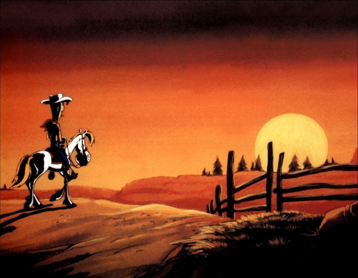 Lucky Luke Sonnenuntergang