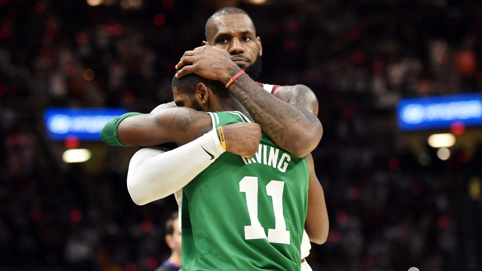 WATCH: LeBron James, Kyrie Irving hug it out after game ...