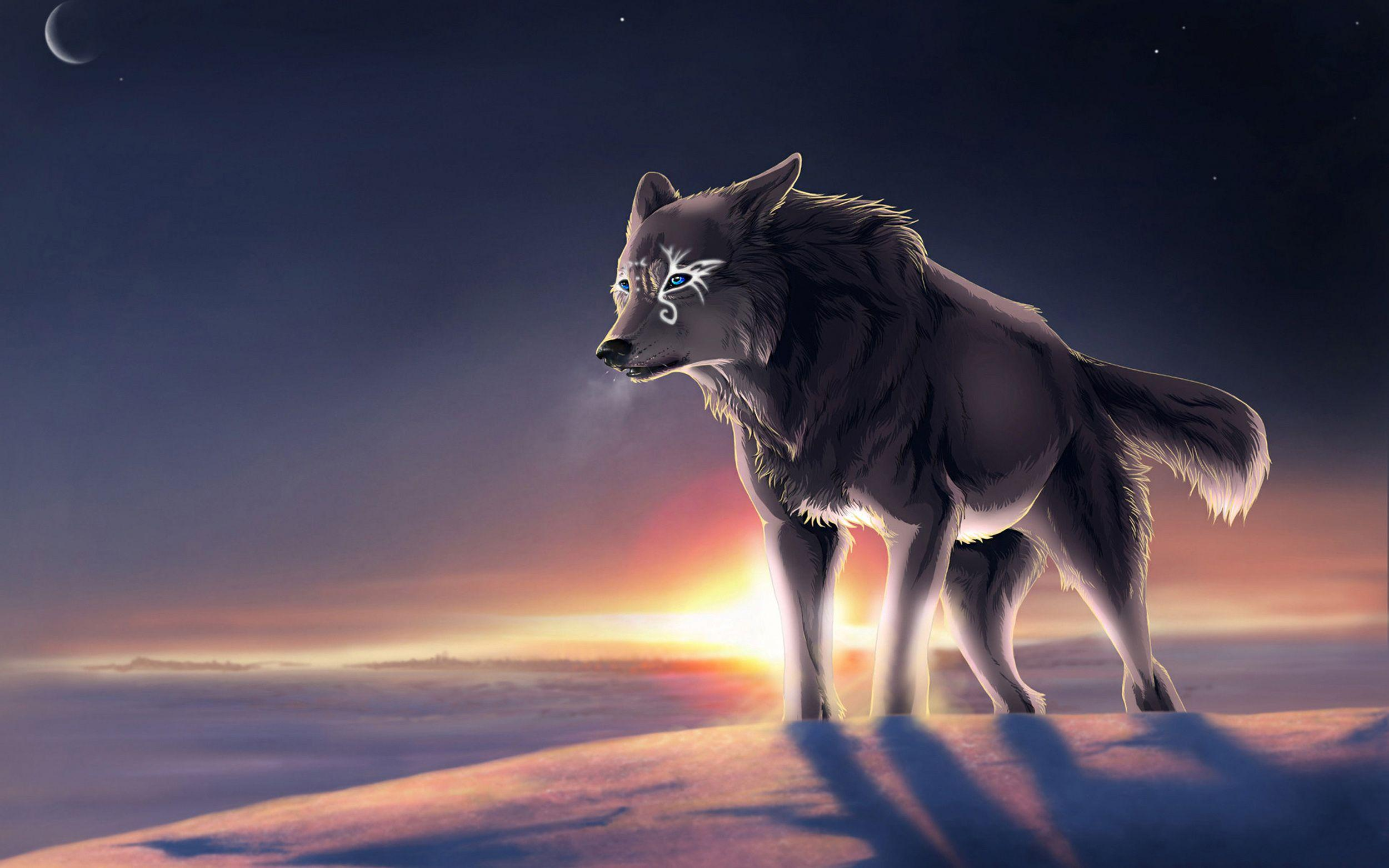 Alone Anime Wolf Wallpaper Dreamlovewallpapers