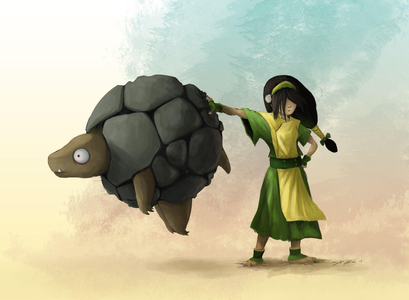 Toph and her Golem