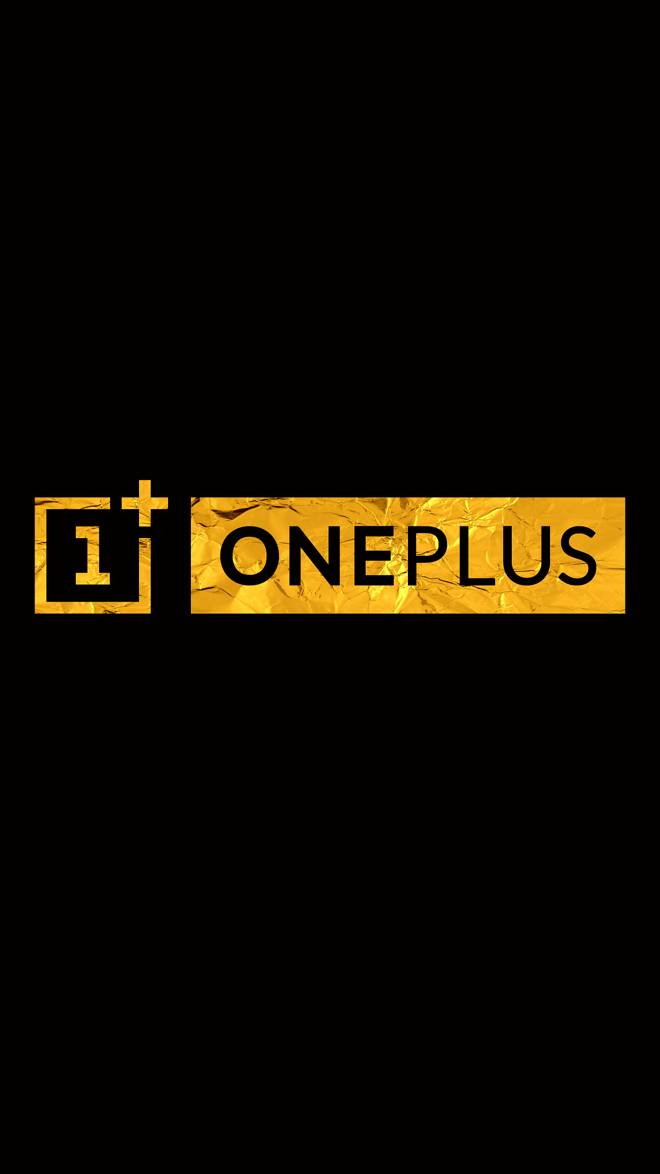 OnePlus 4K Gold AMOLED Logo – Amoled Wallpapers