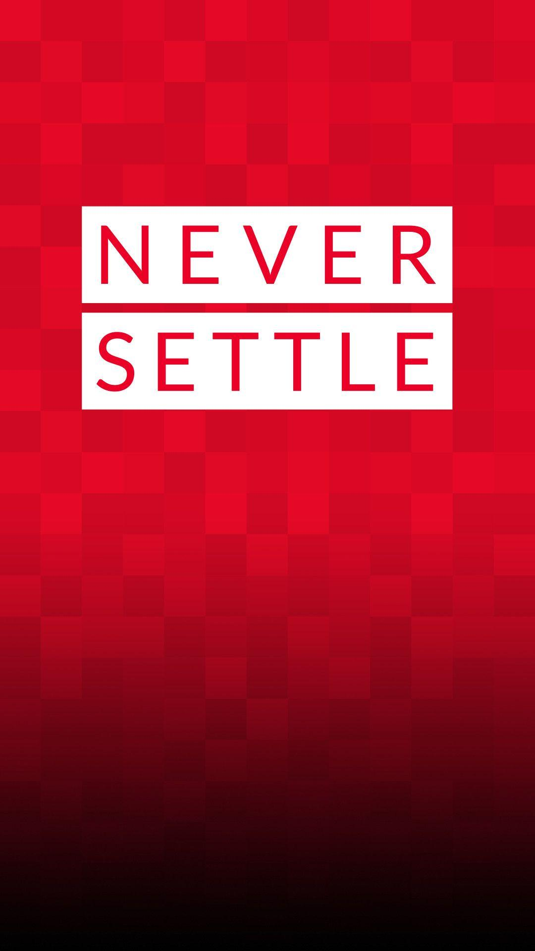 OnePlus Stock Never Settle Red Android Wallpapers free download