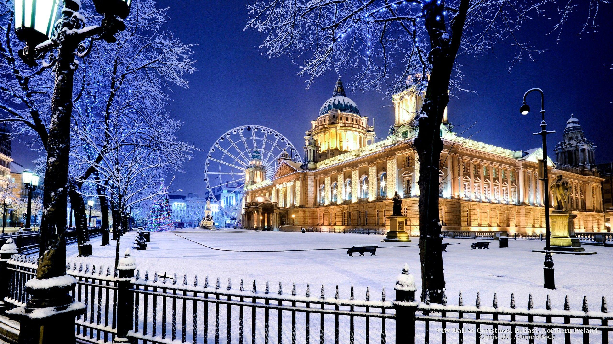 Winter: Christmas City Ireland Landscapes Decorations Belfast Snow