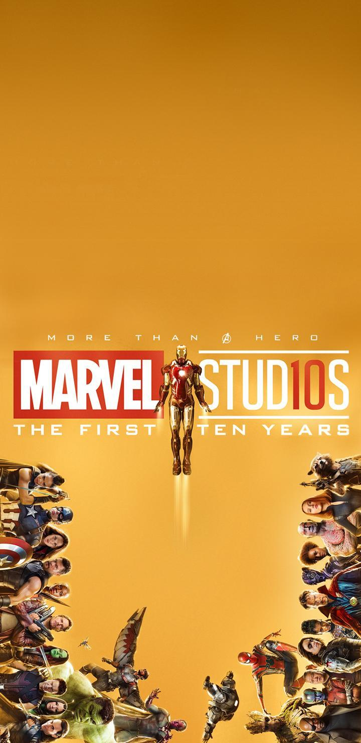marvel studios 10 year phone wallpapers links marvelstudios