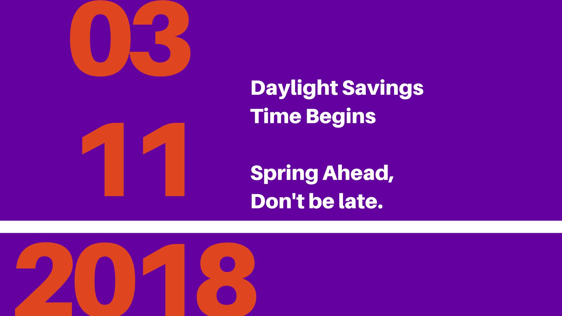 daylight saving 2018