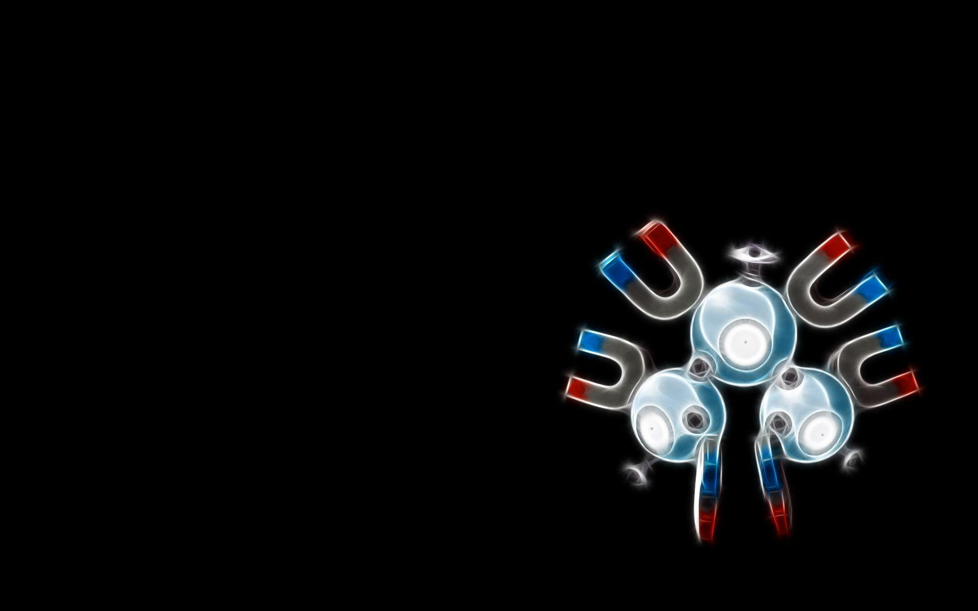Pokemon black backgrounds magneton Wallpapers free desktop