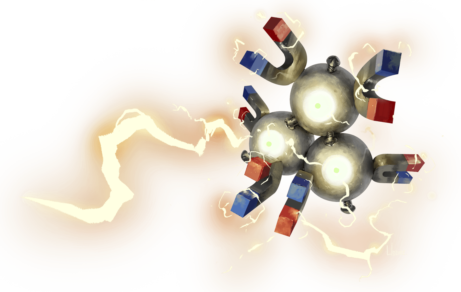 Magneton used Thundershock! by Hozure