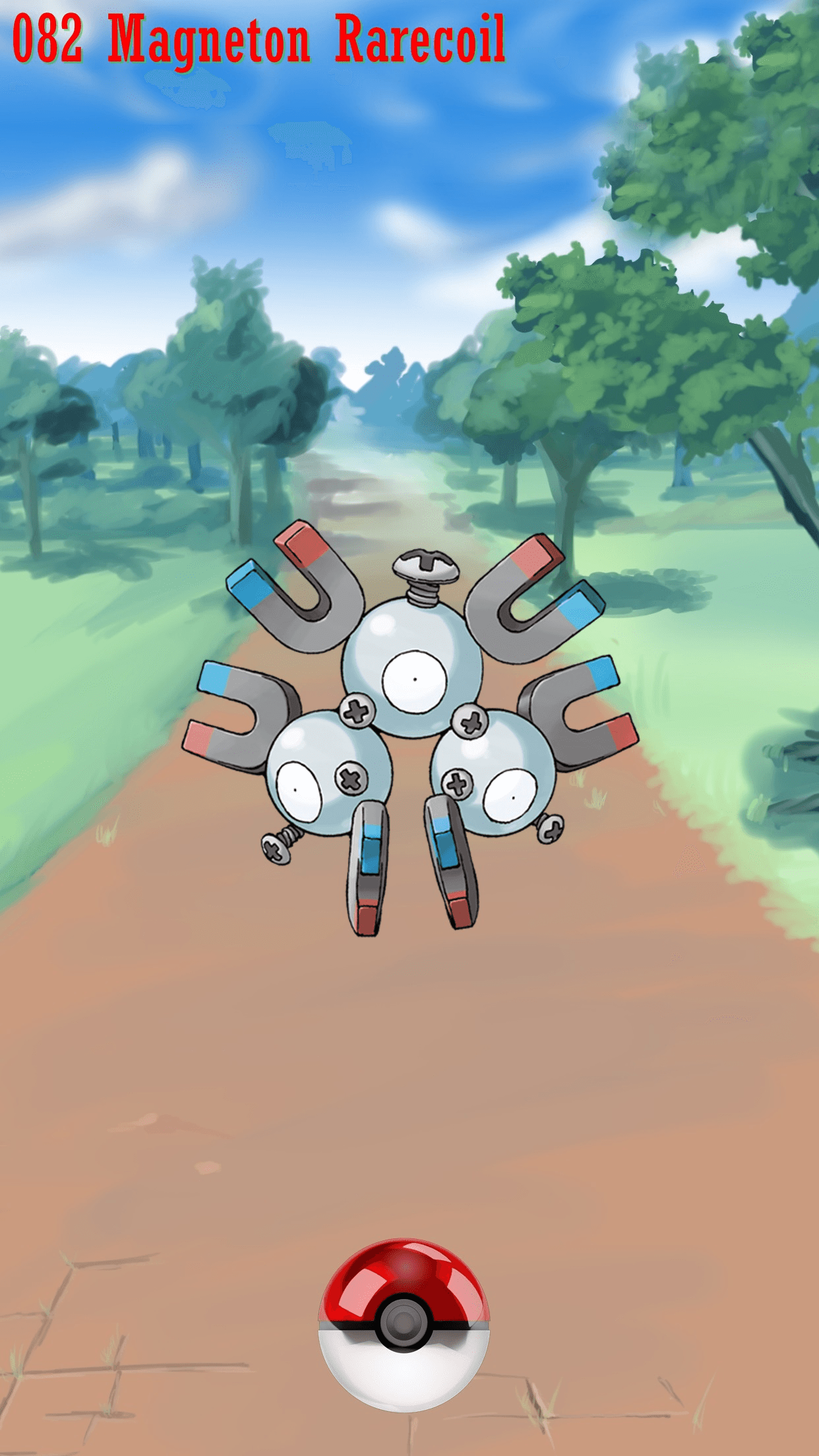 082 Street Pokeball Magneton Rarecoil