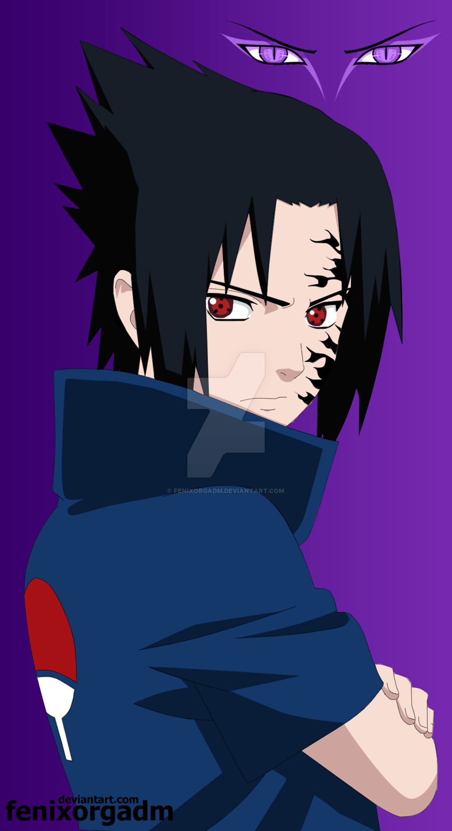 sasuke uchiha curse mark wallpapers wallpaper cave