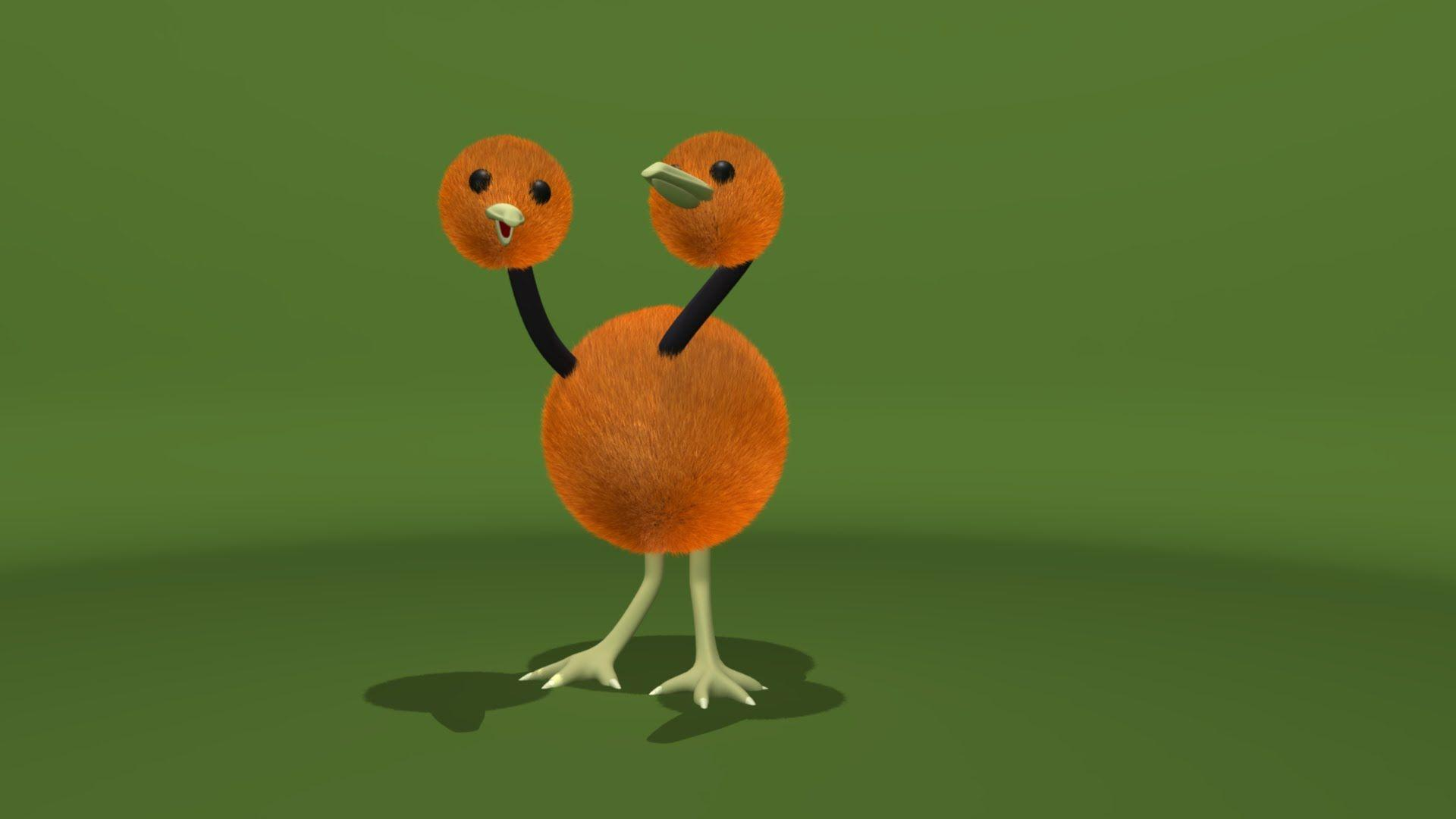Pokemon Red and Blue: Doduo 3D Model (Speed Modeling 01) - YouTube