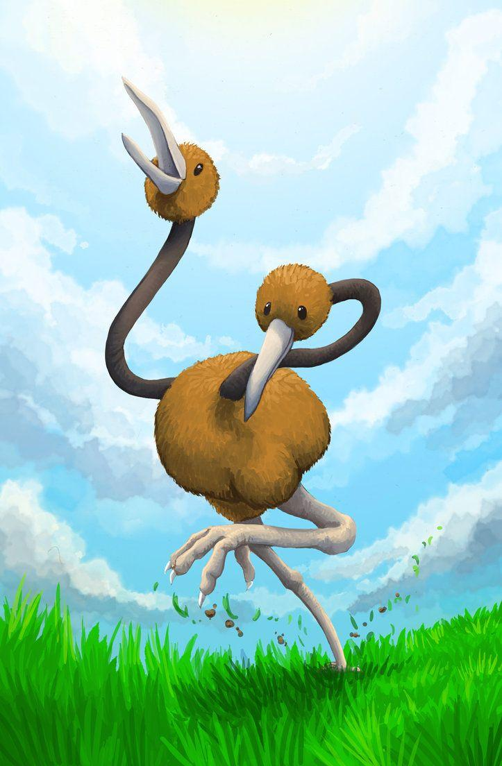 Doduo - On a run by Kampfkewob on DeviantArt