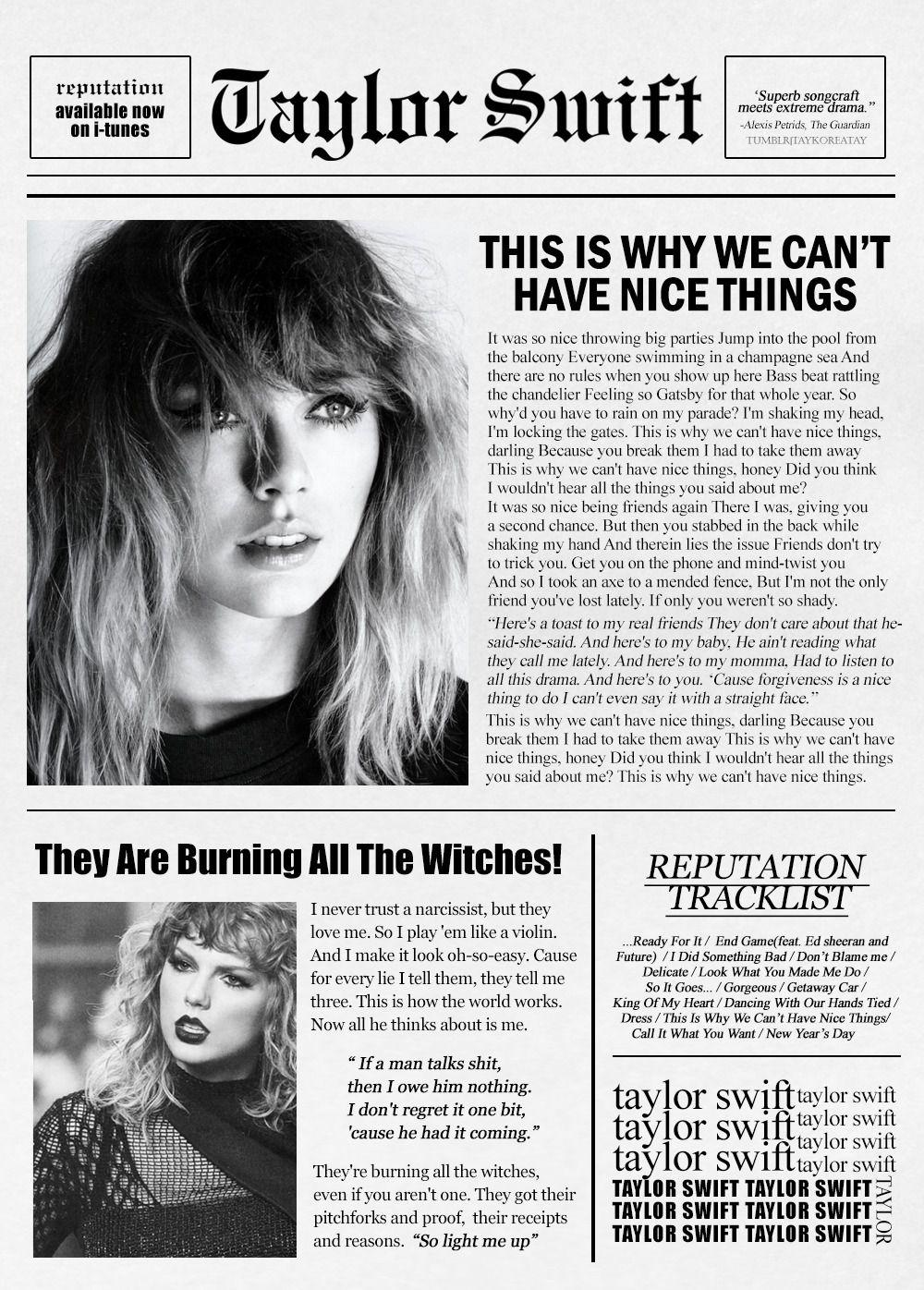 Reputation Are you ready for it? | Taylor swift | Pinterest ...