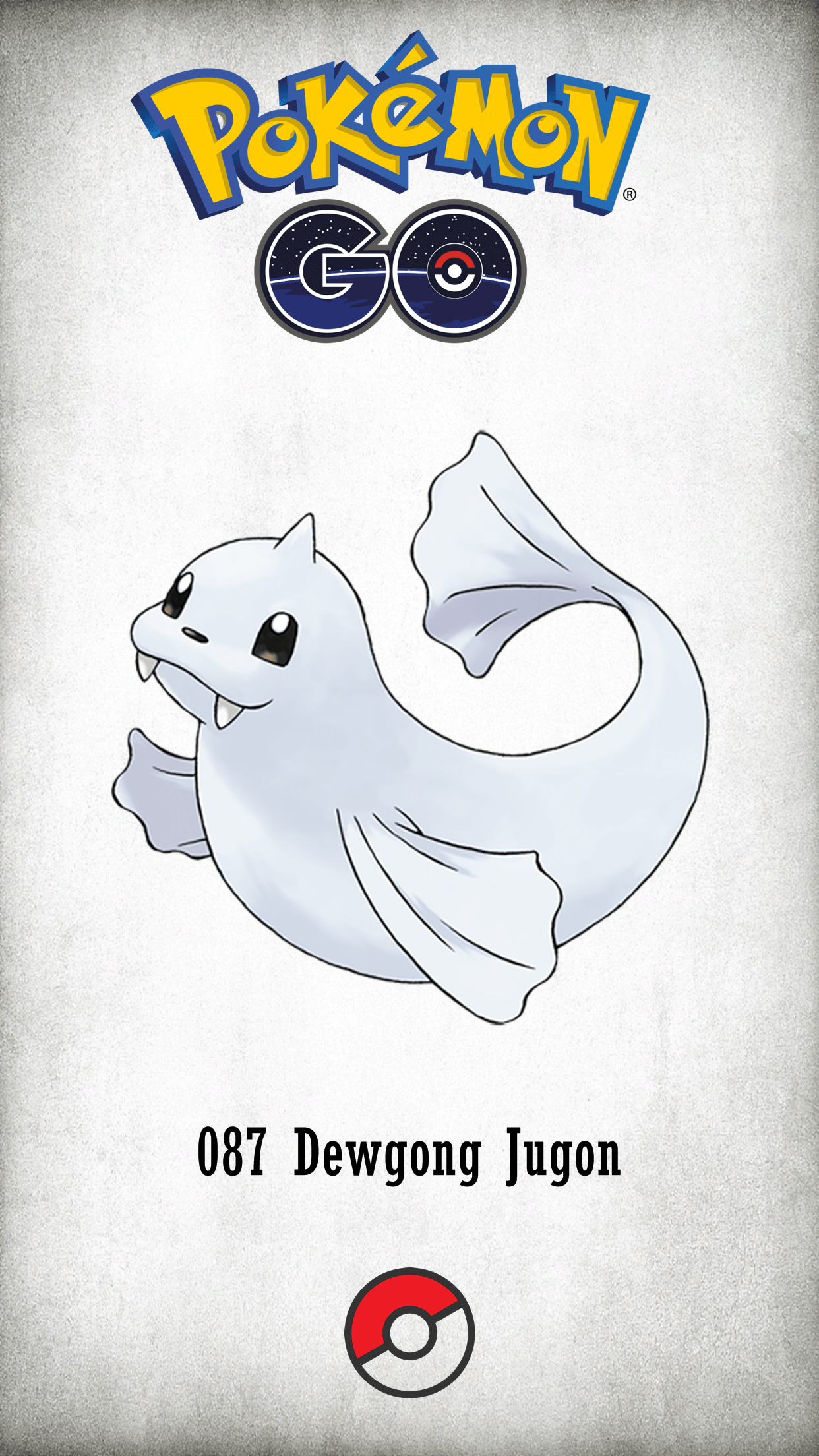 087 Character Dewgong Jugon | Wallpaper