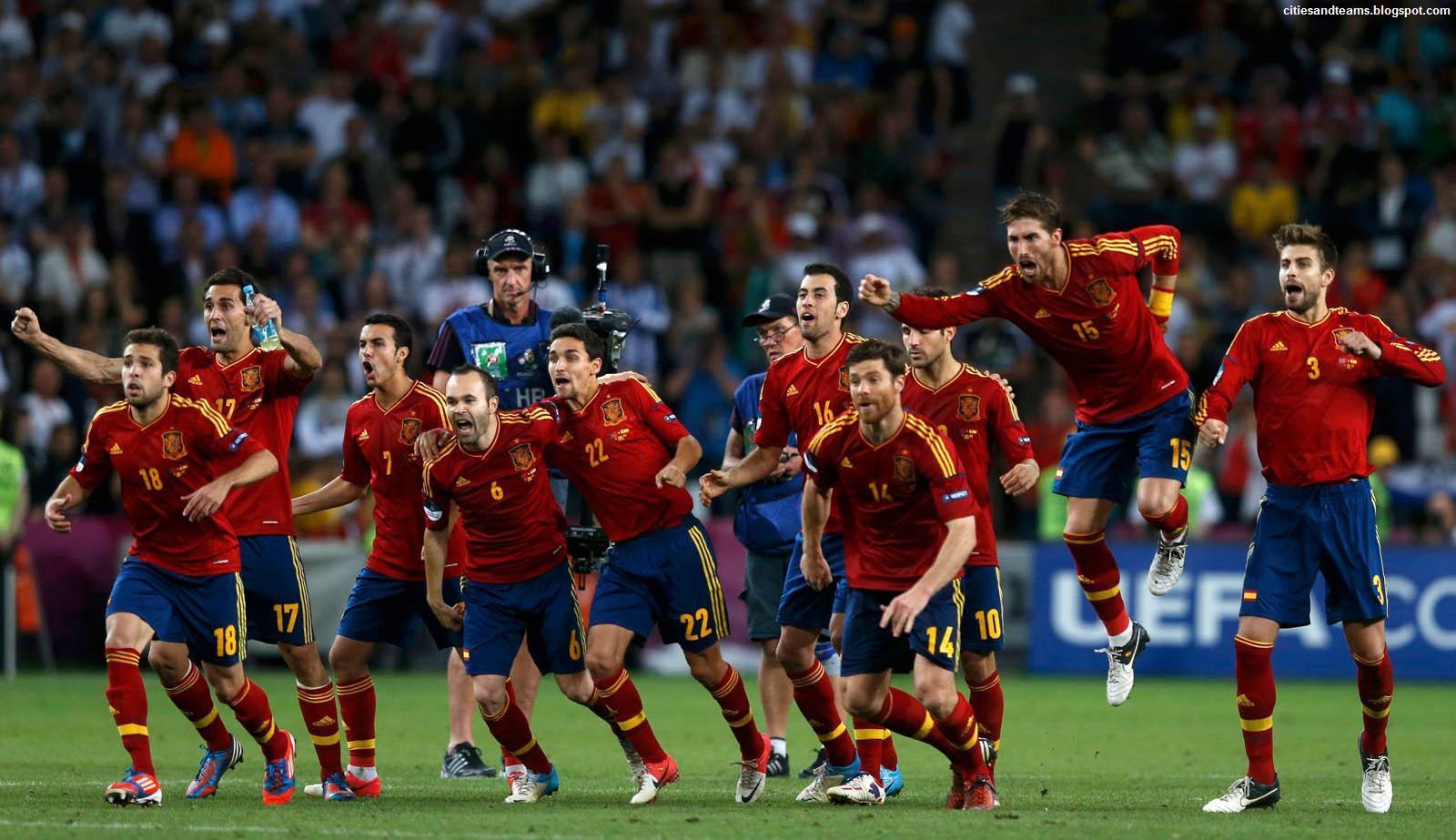 Spain national football Teams background 4