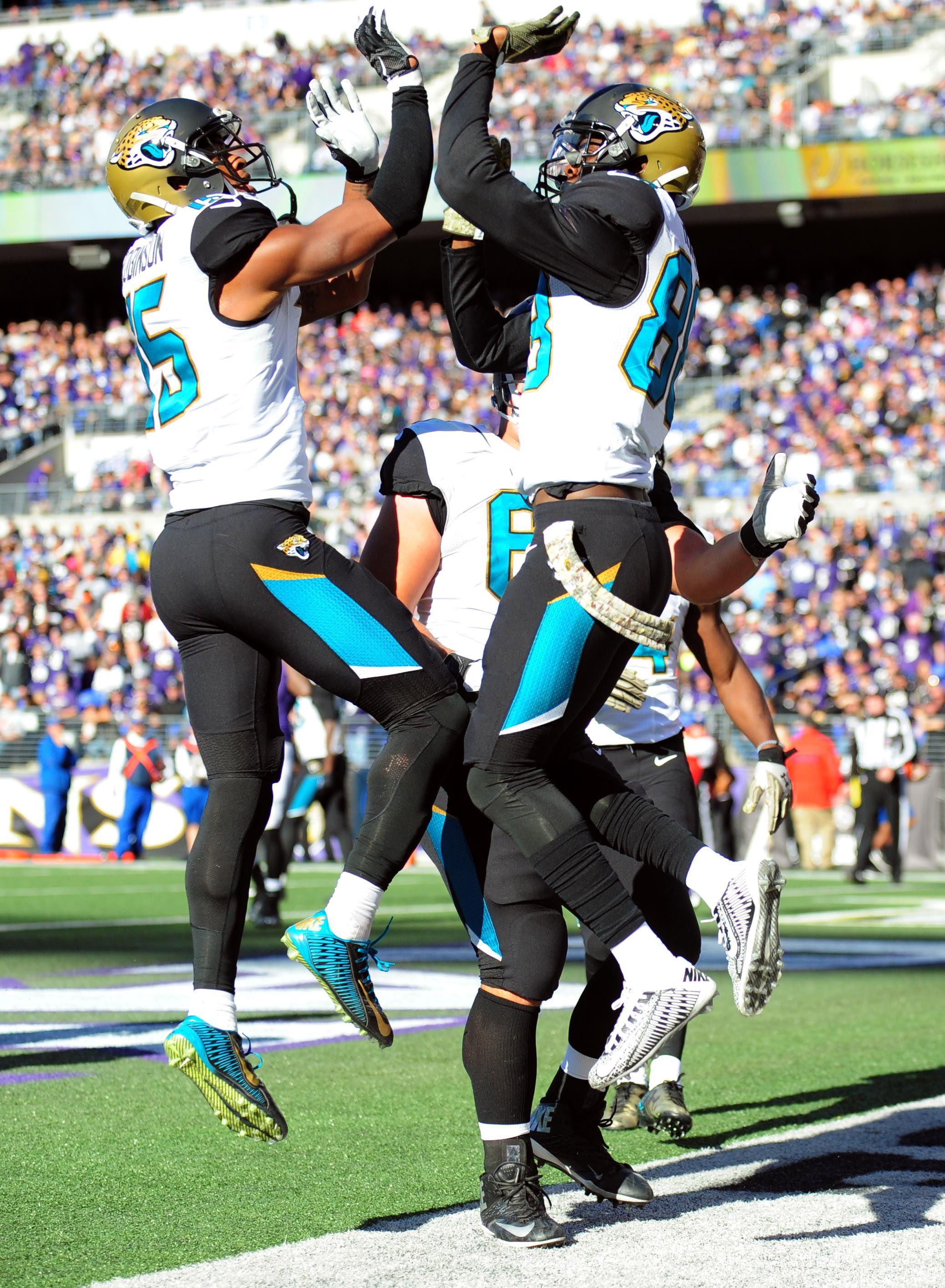 Nov 15, 2015; Baltimore, MD, USA; Jacksonville Jaguars wide ...