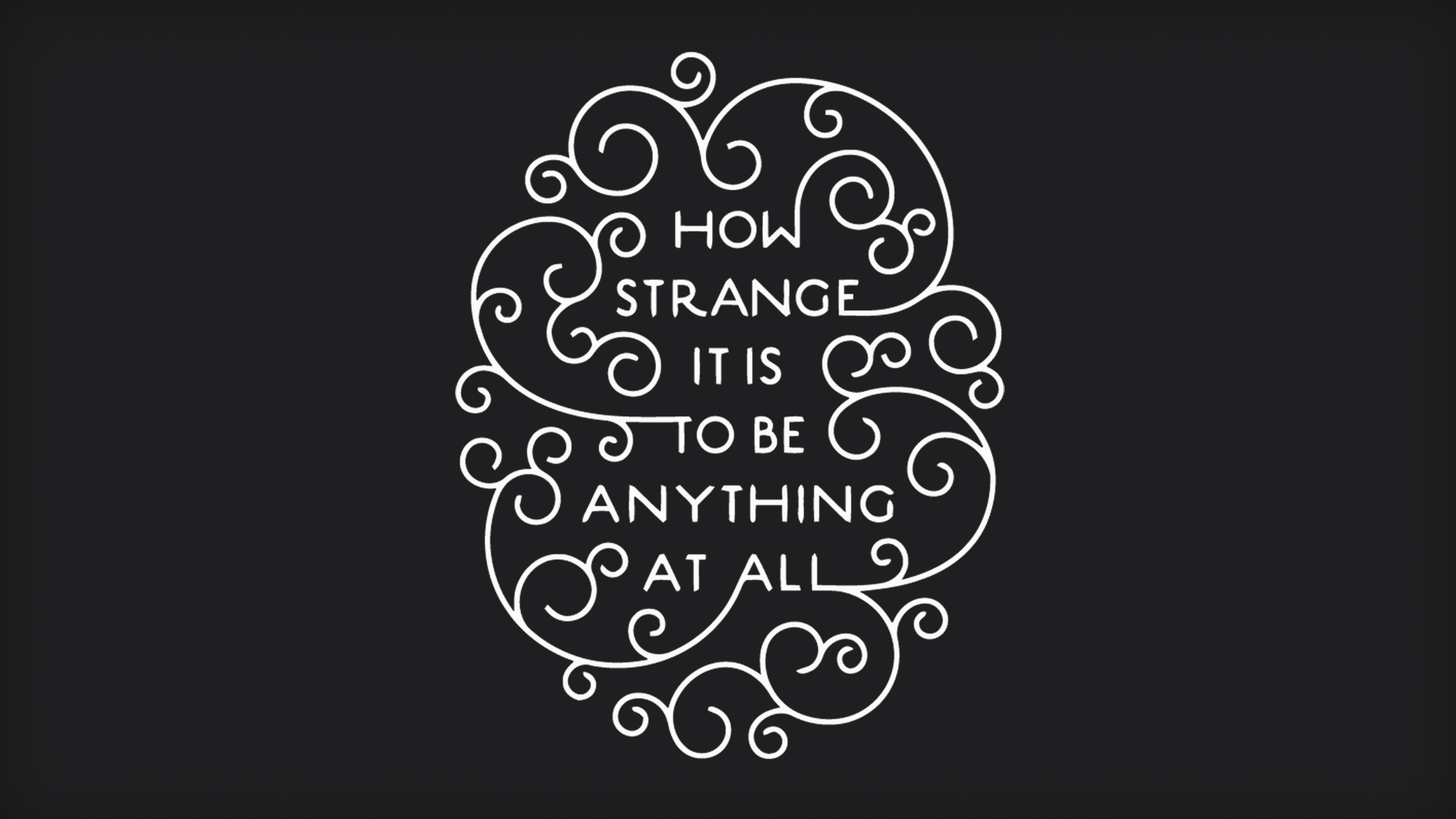 Wallpaper I Made Based On A Neutral Milk Hotel Lyric 1920x1080
