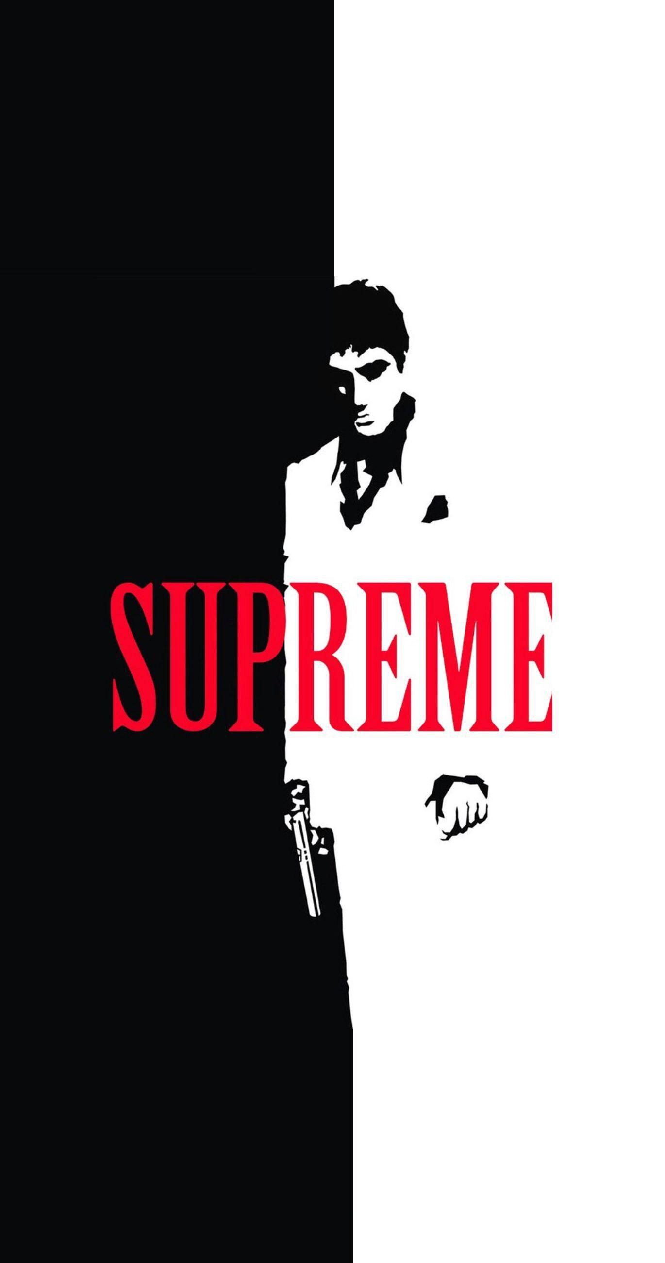 Scarface x Supreme Split IPhone Wallpapers