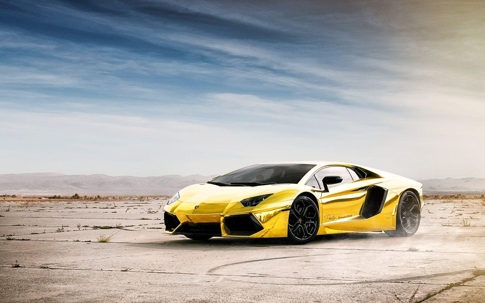 Gold Car Wallpapers: Gold Lamborghini Wallpapers