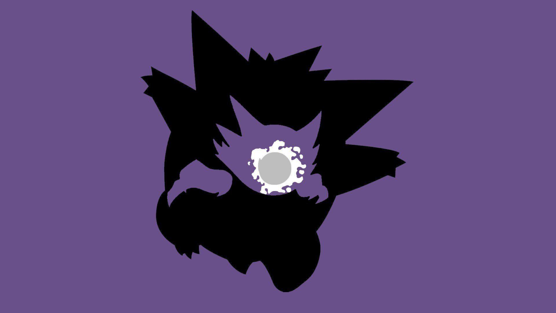 Pokemon, Ghastly, Haunter, Gengar, Simple background, Minimalism ...