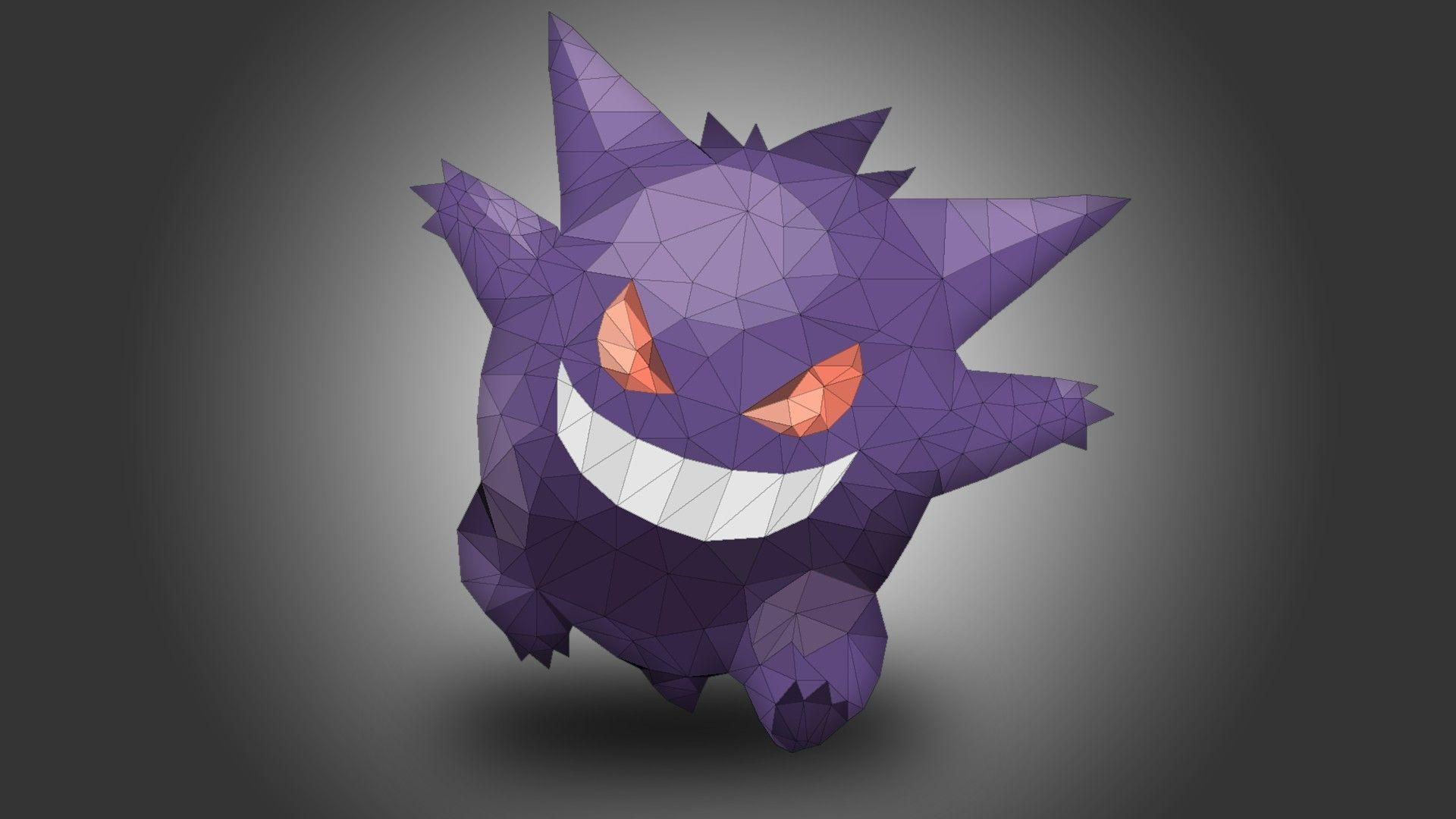 Gengar, Pokémon, Low poly HD Wallpapers / Desktop and Mobile ...