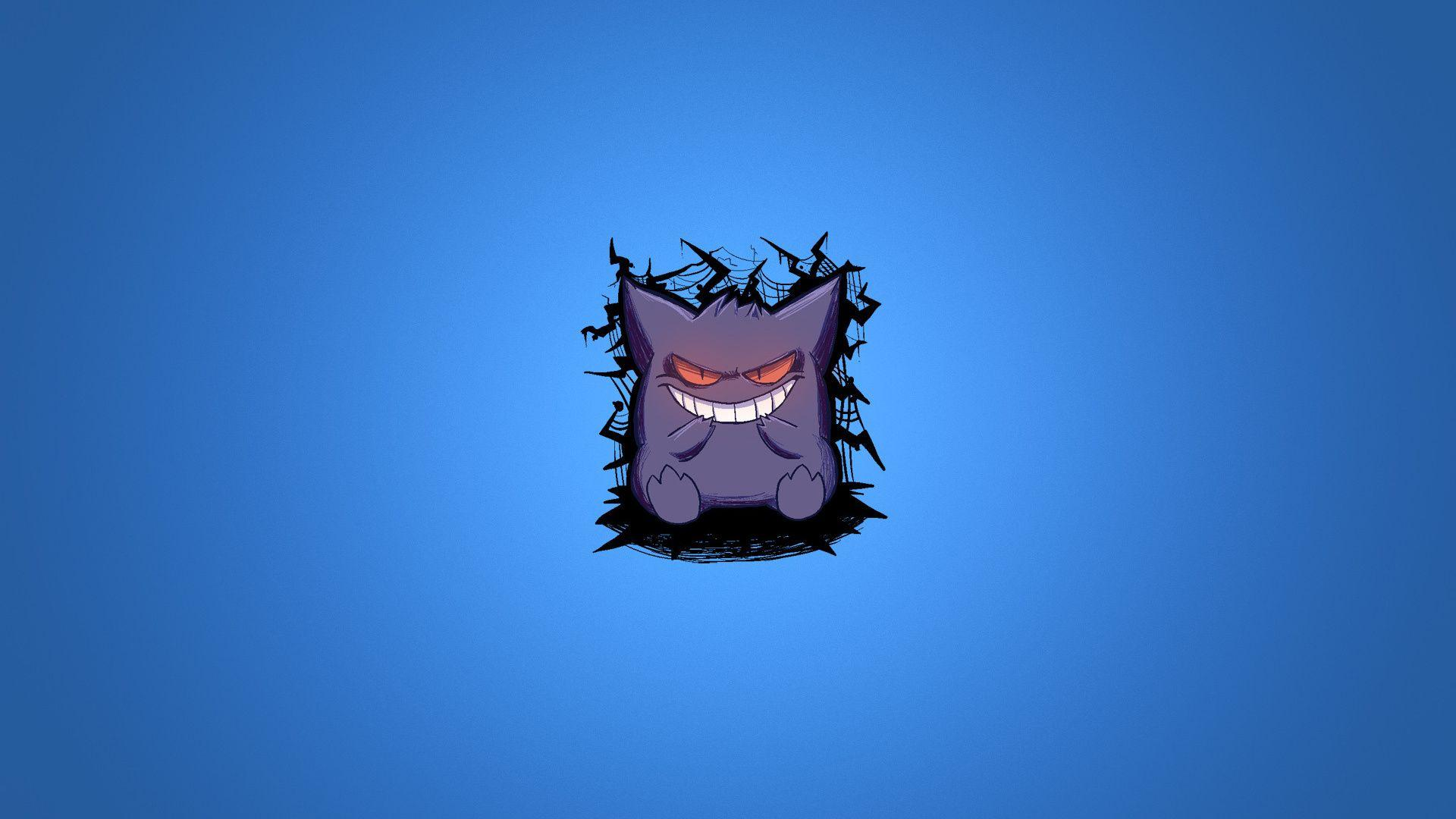 1920x1080 Blue Background, Pokemon, Smile, Purple, Pokemon, Gengar ...