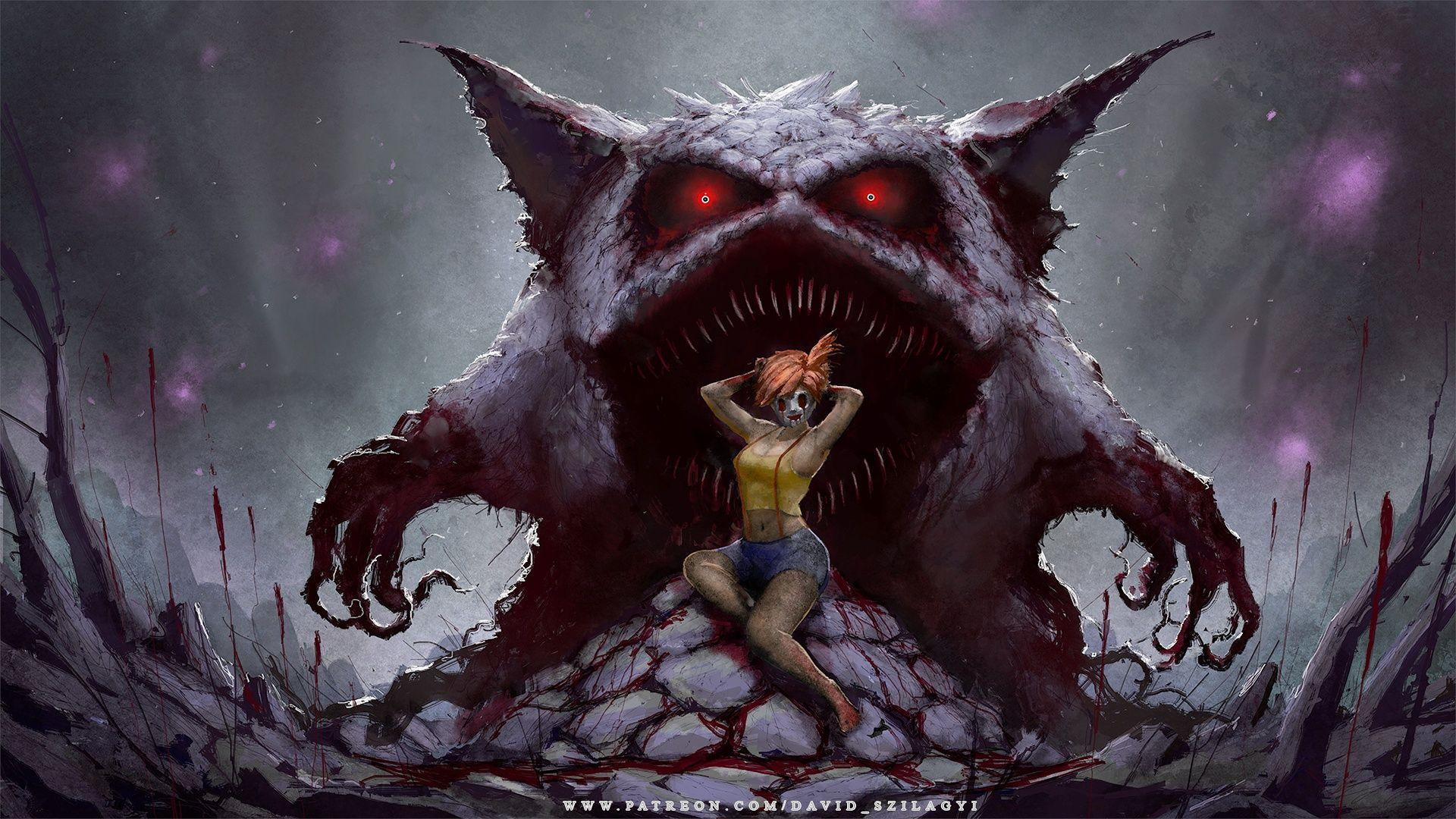 For My Fans! Misty Gengar Creepy Pinup Wallpaper (1920x1080p ...