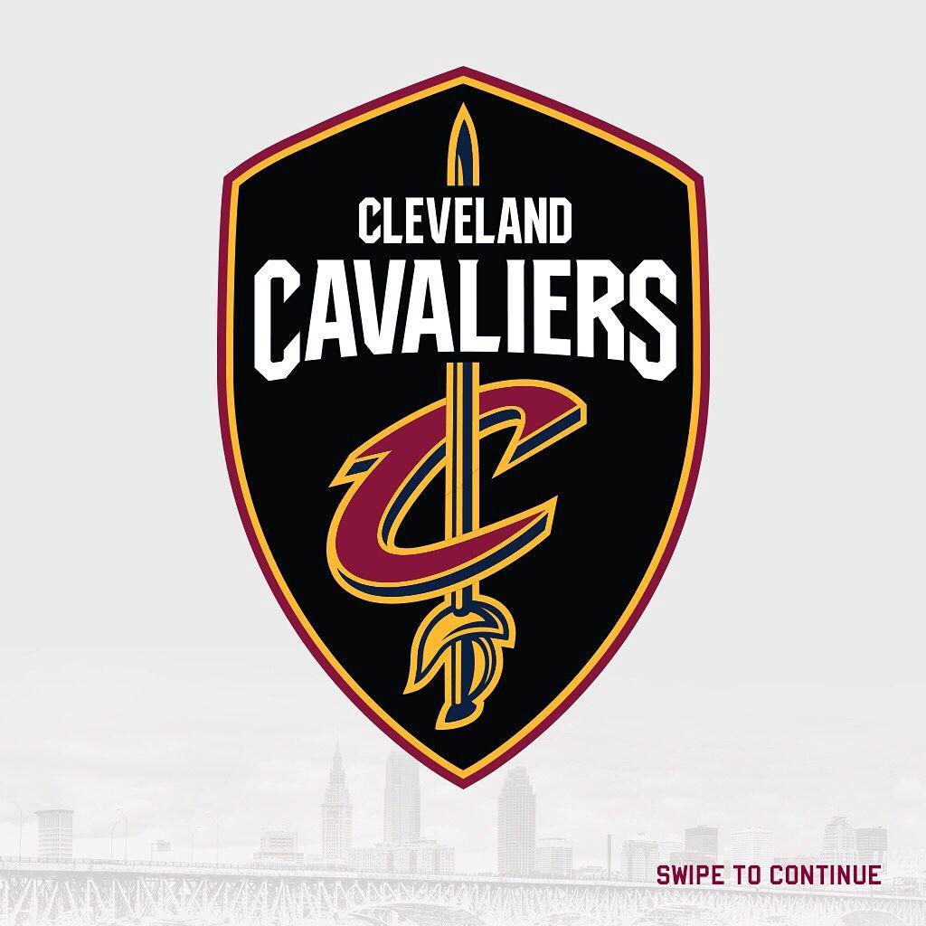 Novo logo do Cleveland Cavaliers para a temporada 2017-2018 .