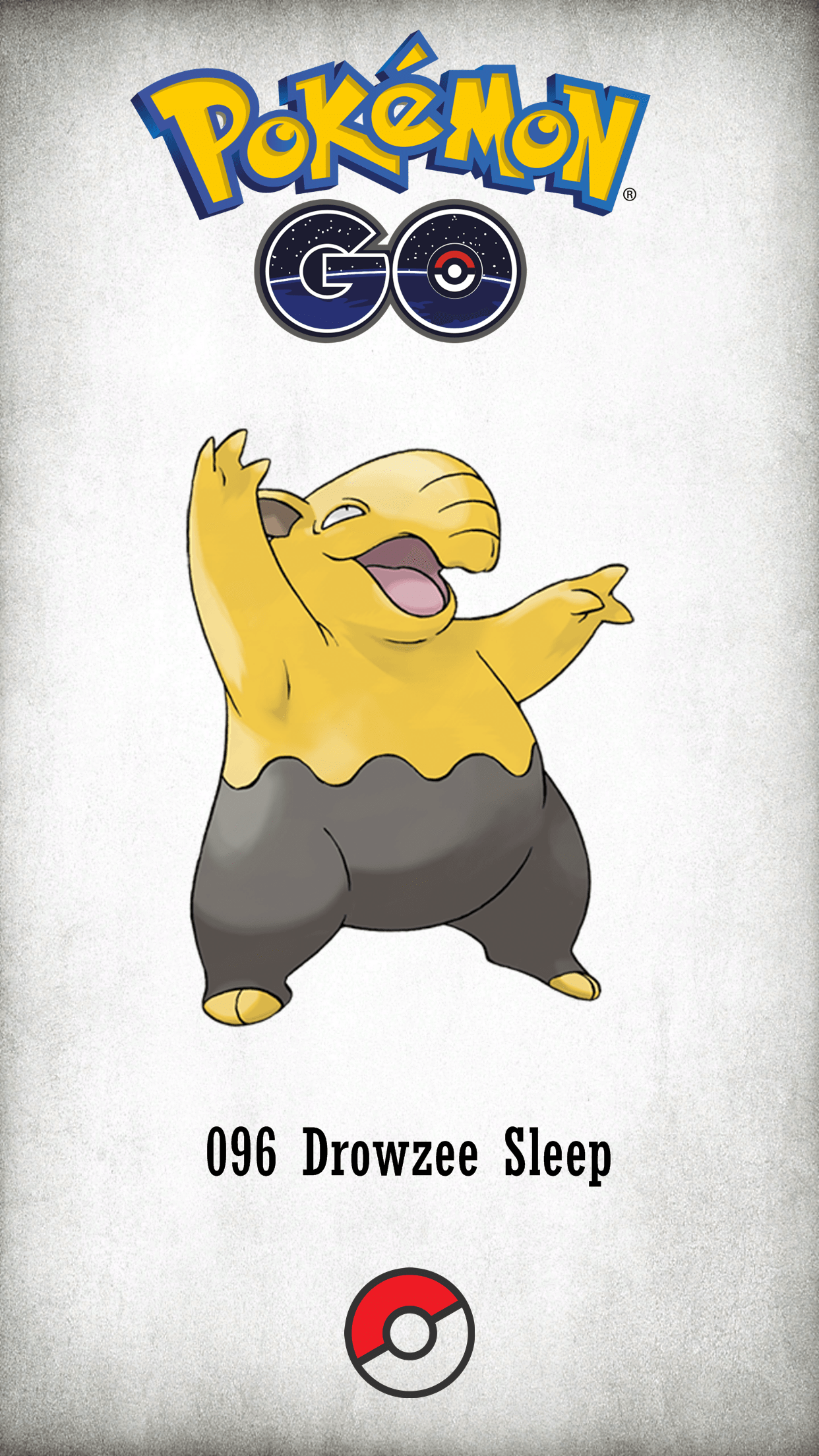096 Character Drowzee Sleep | Wallpaper