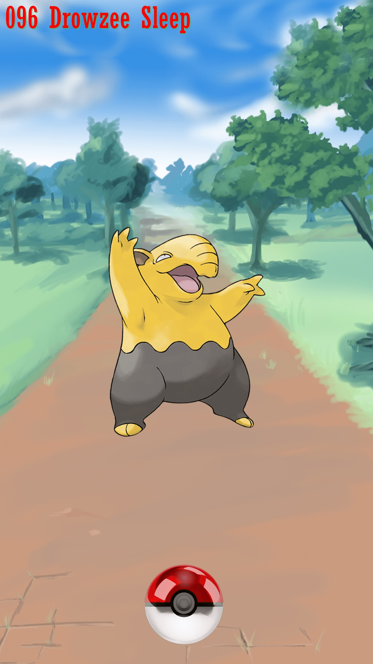096 Street Pokeball Drowzee Sleep | Wallpaper