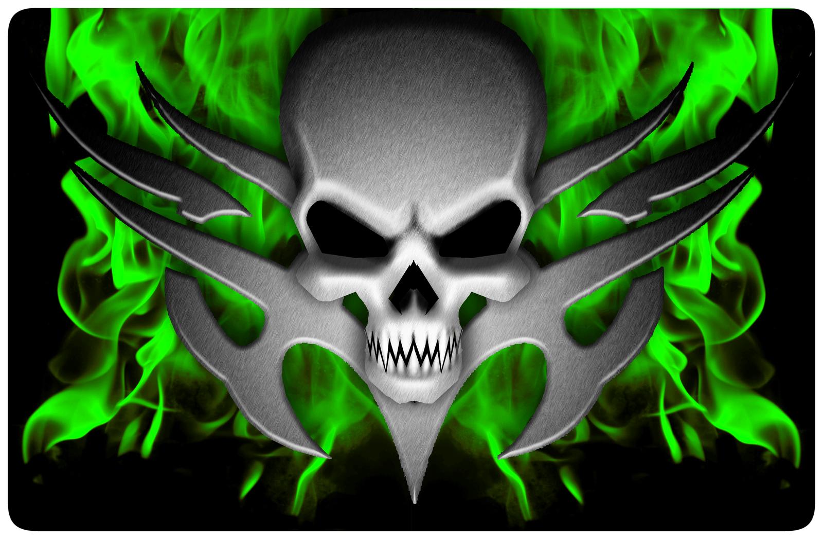 Flaming Skull Wallpapers Description