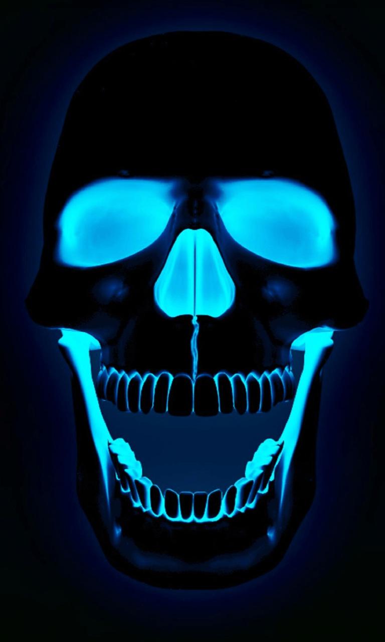 Green Flaming Skull Wallpaper PC