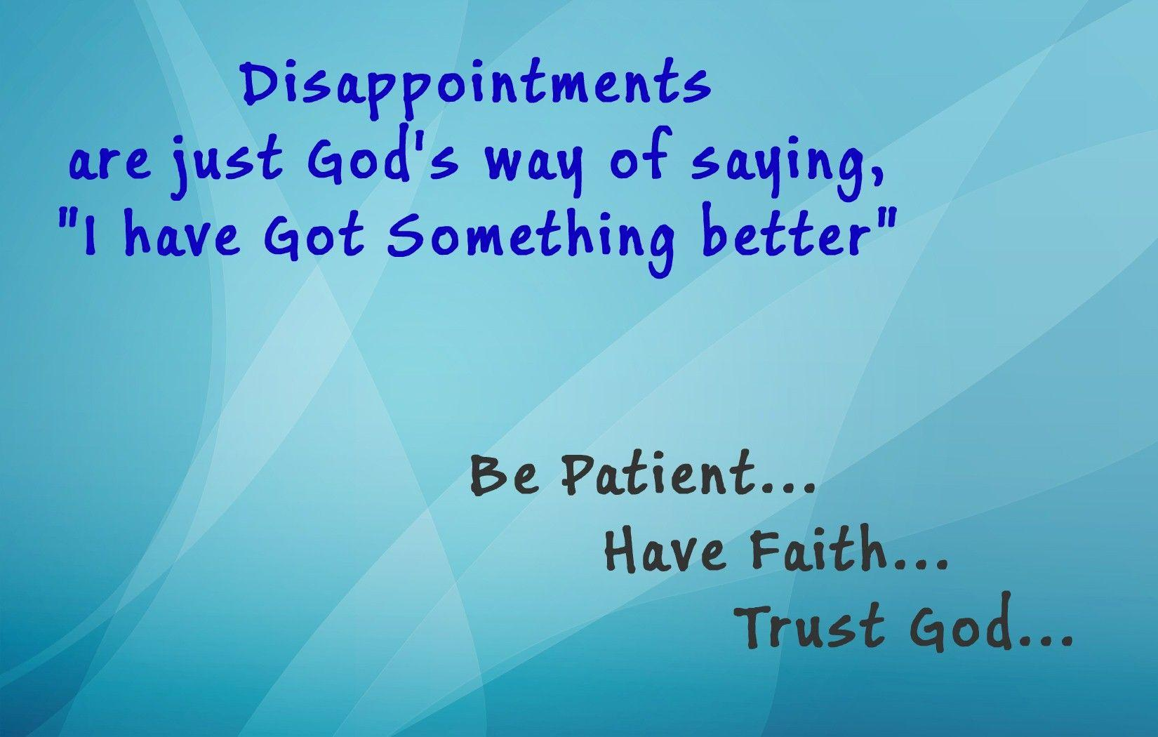 Be Patient Have Faith Trust God HD Quote Photos | HD Famous Wallpapers