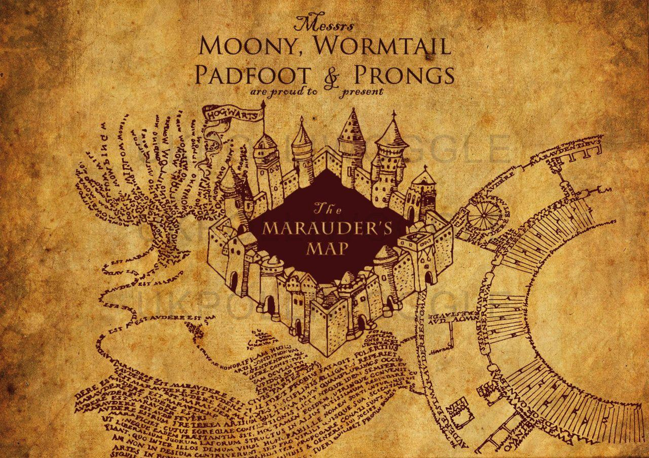 Marauders Map Wallpapers Wallpaper Cave