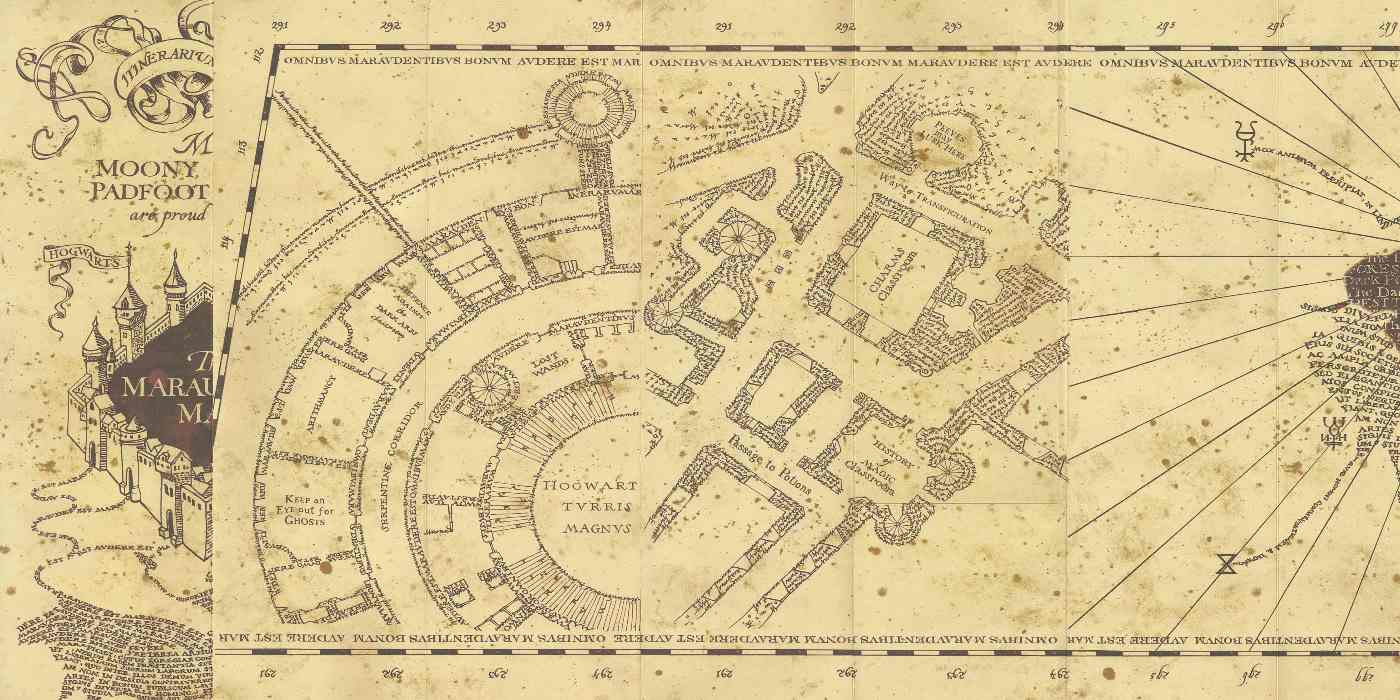 It is a graphic of Rare Marauders Map Printable