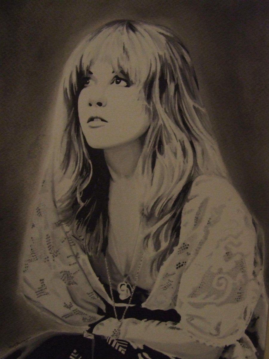 Stevie Nicks of Fleetwood Mac by Markbickley