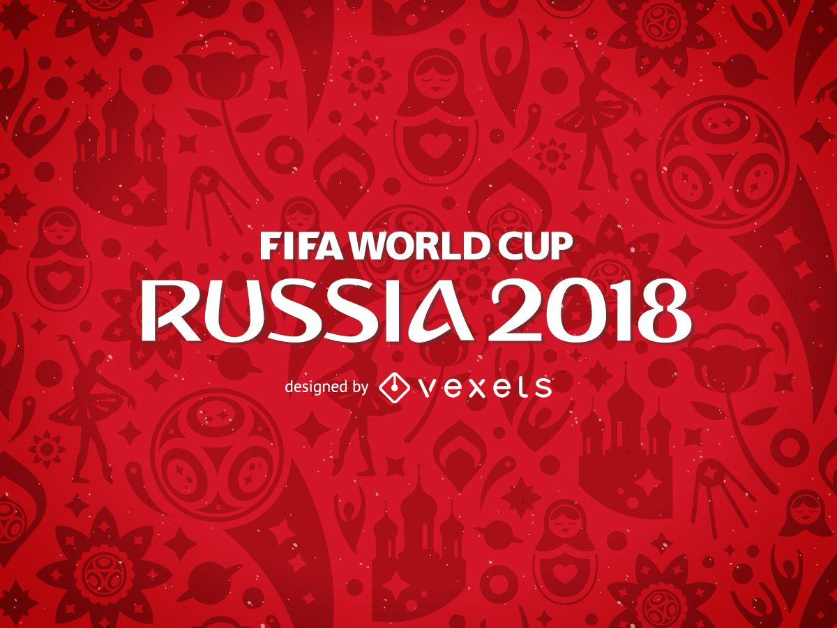 Russia 2018 FIFA World Cup pattern - Vector download