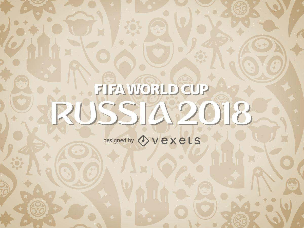Russia 2018 World Cup pattern - Vector download