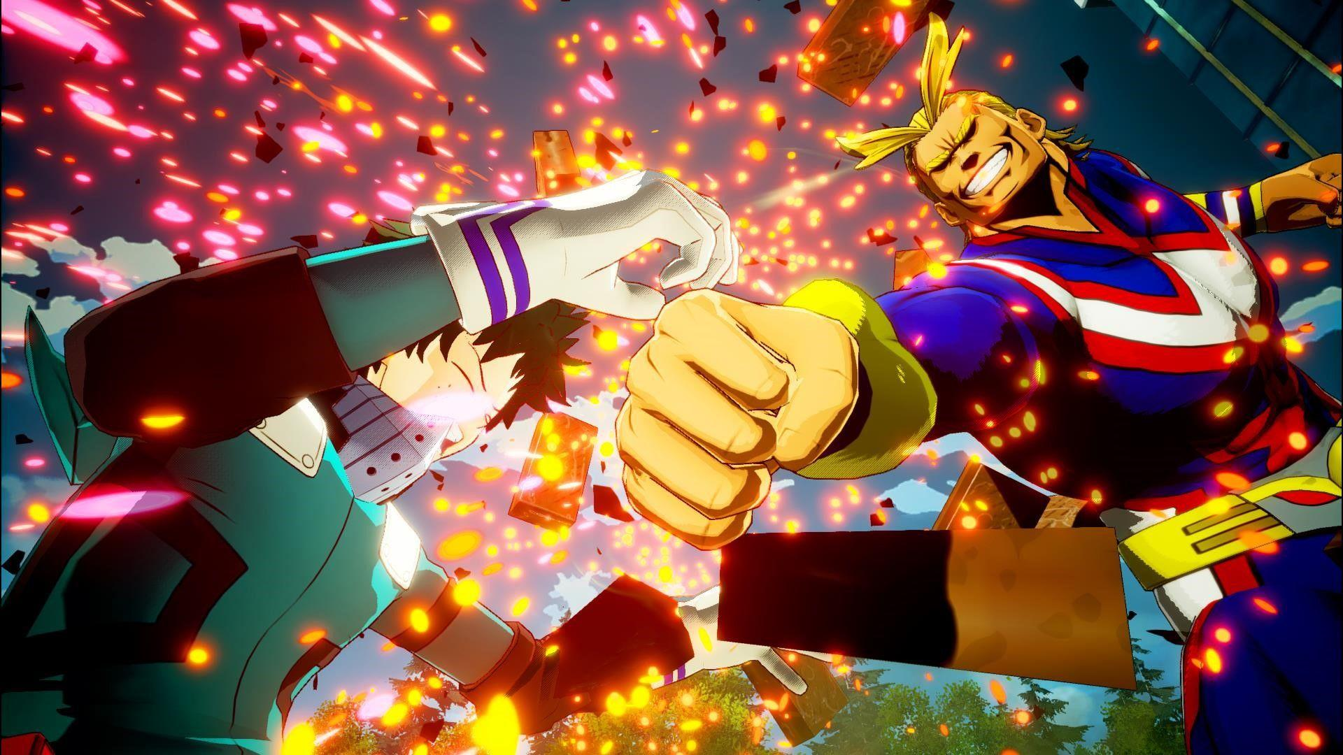 My Hero Academia: One's Justice screenshots show All Might, Katsuki