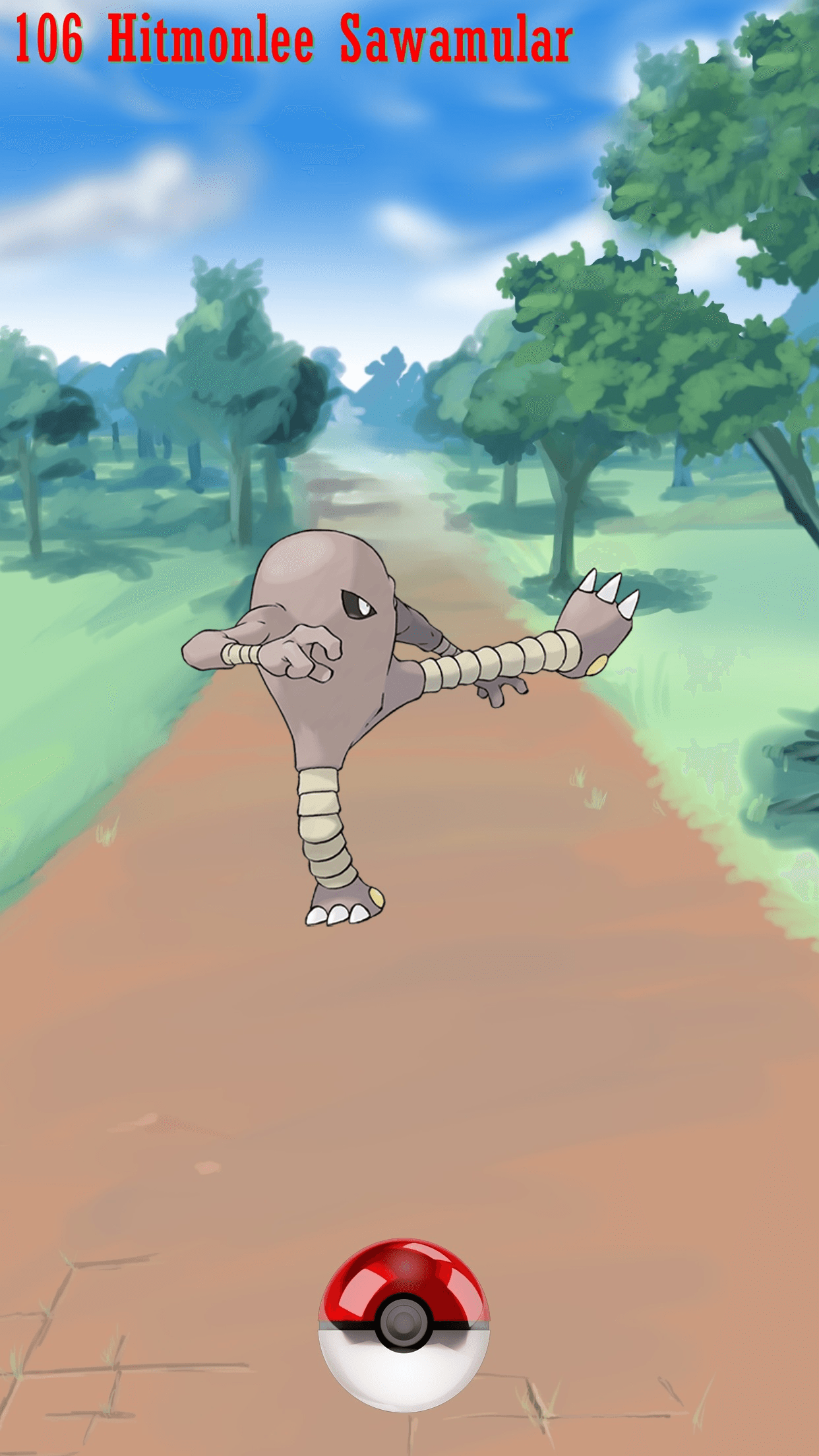 106 Street Pokeball Hitmonlee Sawamular | Wallpaper
