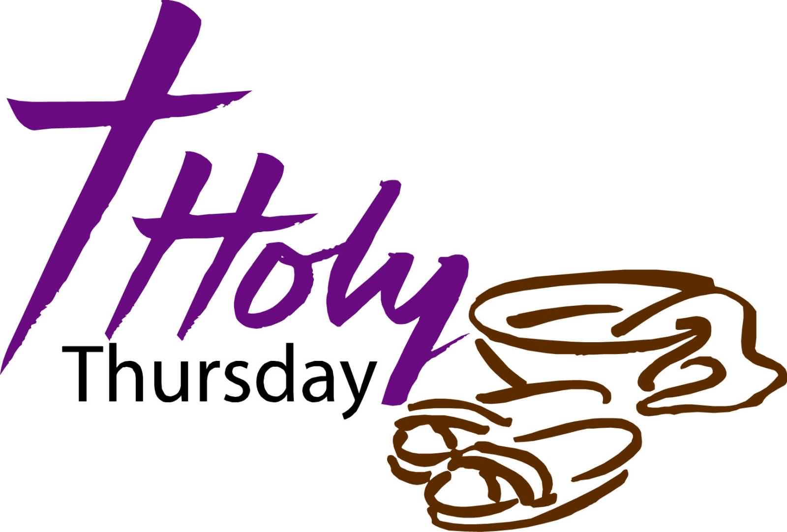 Holy Thursday Wishes Clipart