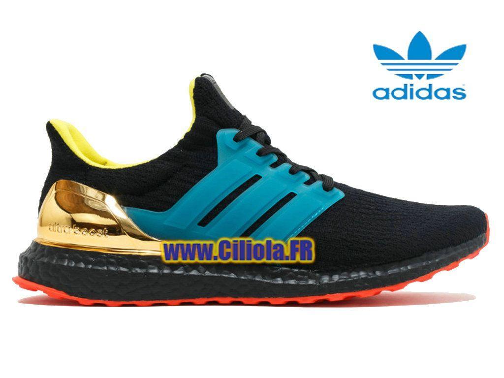 4e38937a2 Adidas Ultra Boost Kolor - Officiel Chaussure Homme Femme Noir Or ..