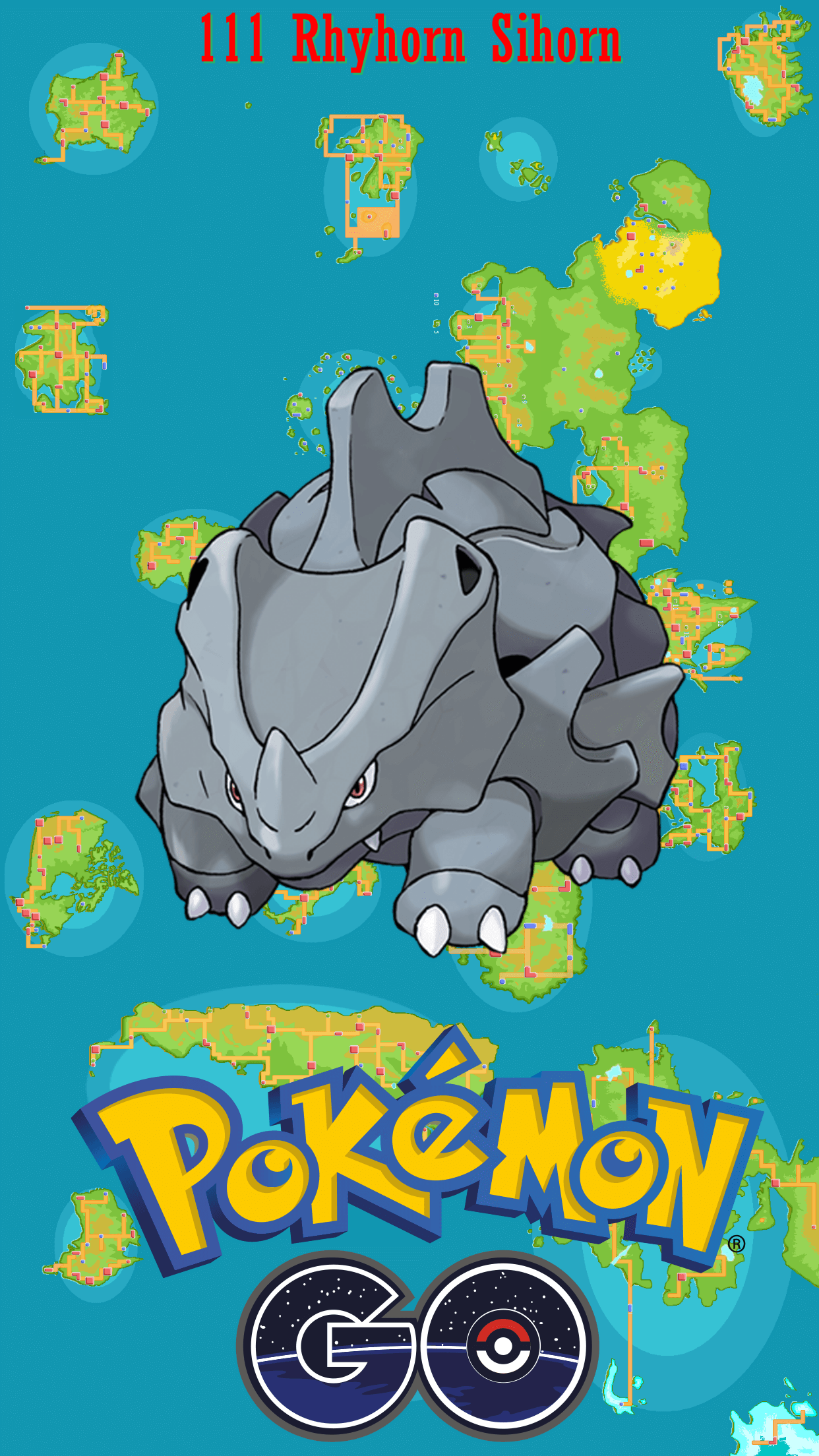 111 Street Map Rhyhorn Sihorn | Wallpaper
