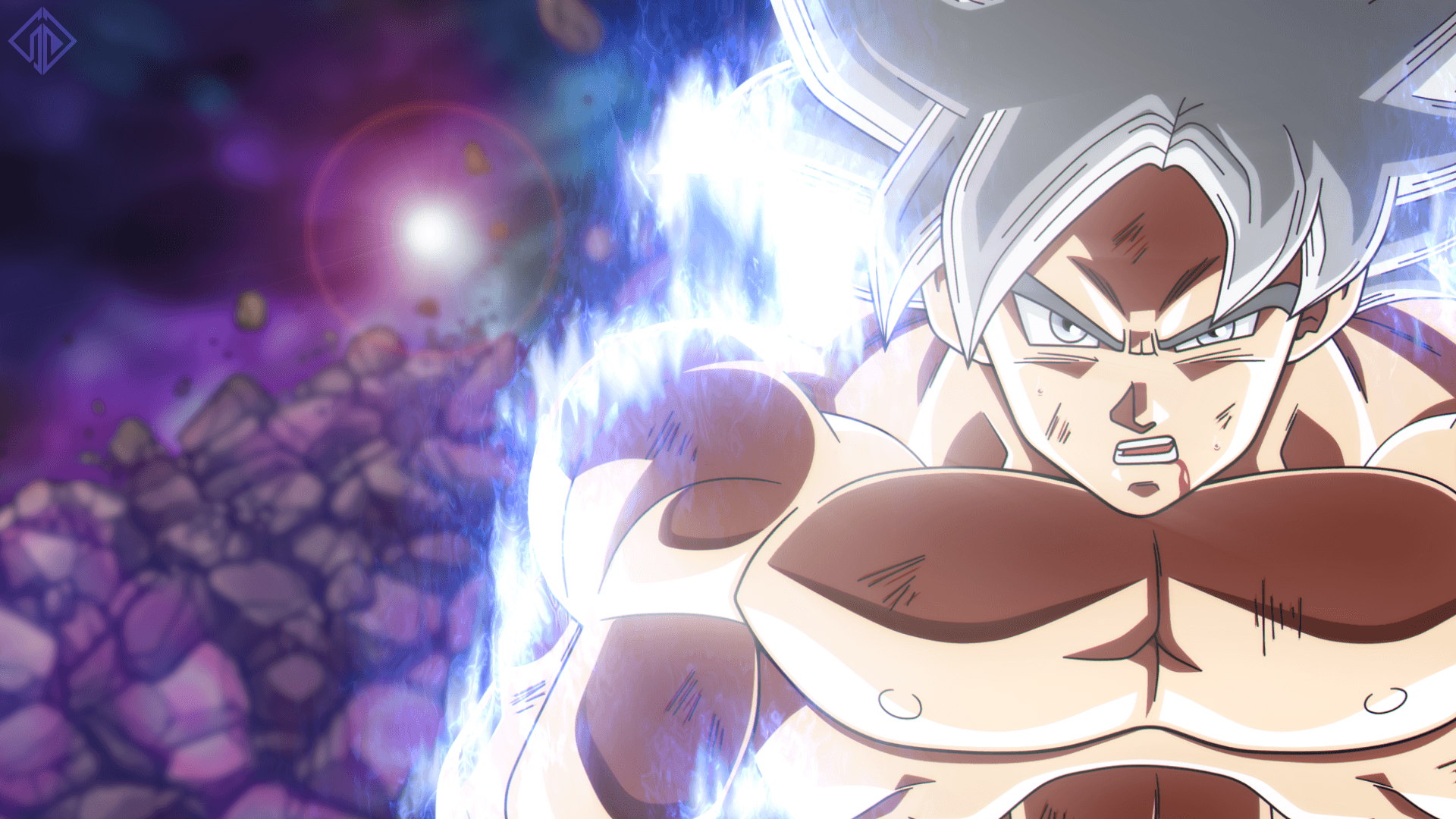 Goku Super Saiyan Silver Form Mastered UI Full HD Wallpapers and