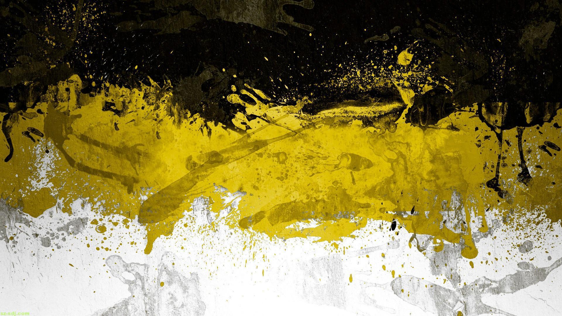Yellow Black Wallpapers Wallpaper Cave