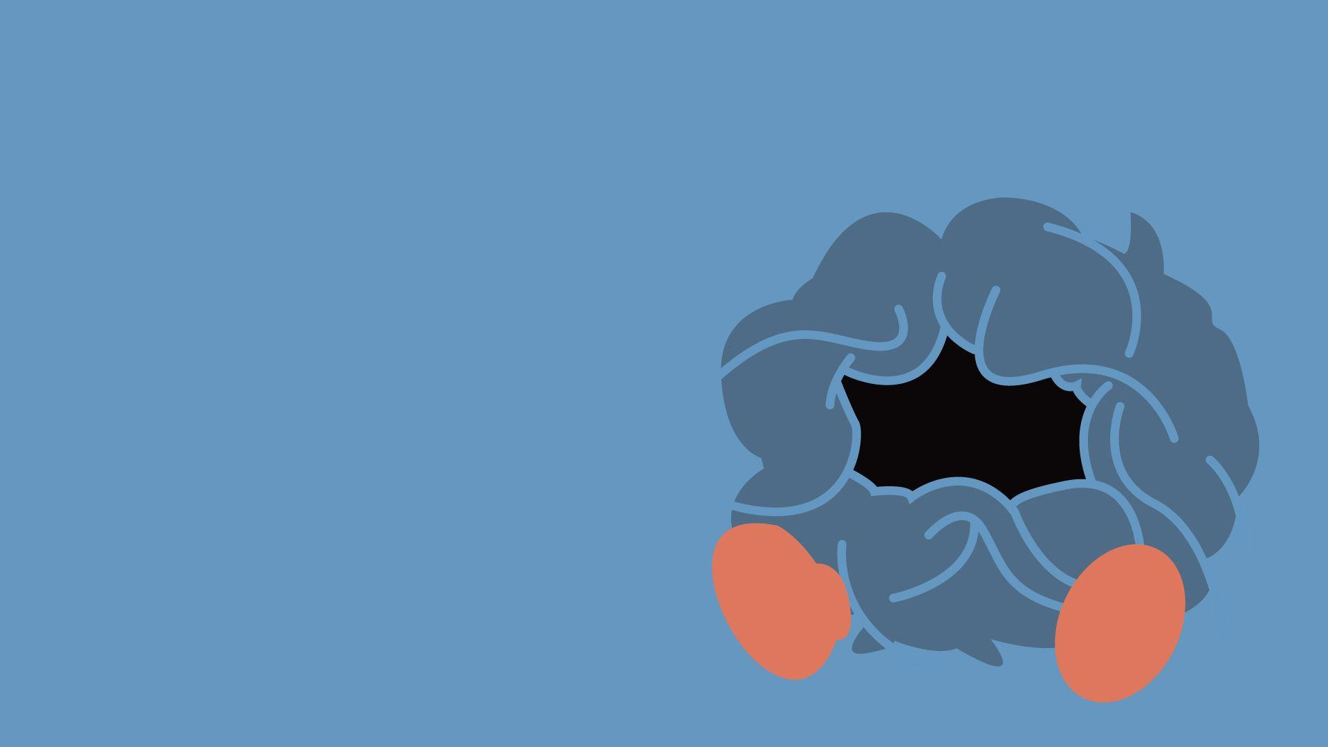 Tangela, Minimalism, Blue Background wallpaper | anime | Wallpaper ...