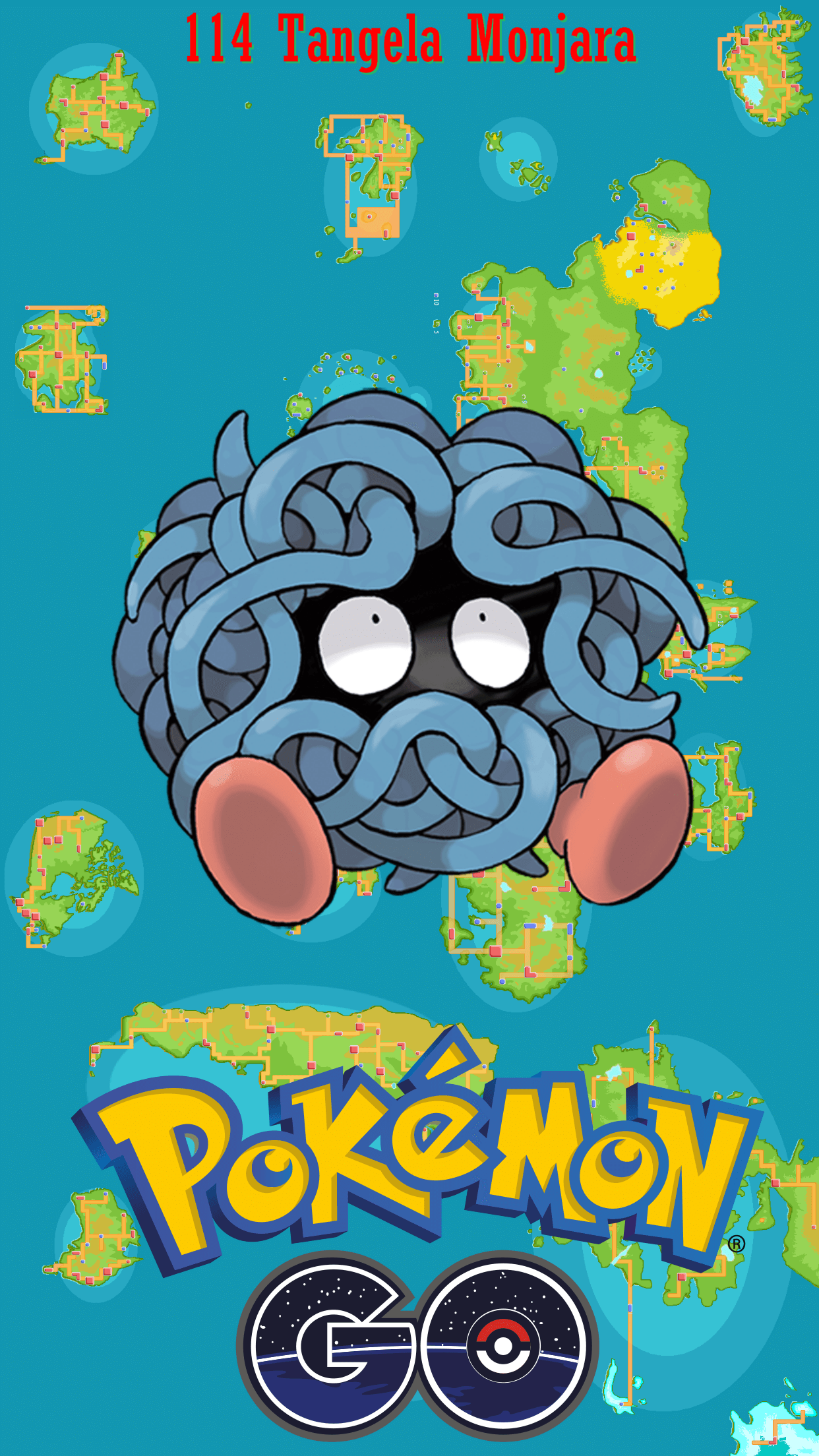 114 Street Map Tangela Monjara | Wallpaper