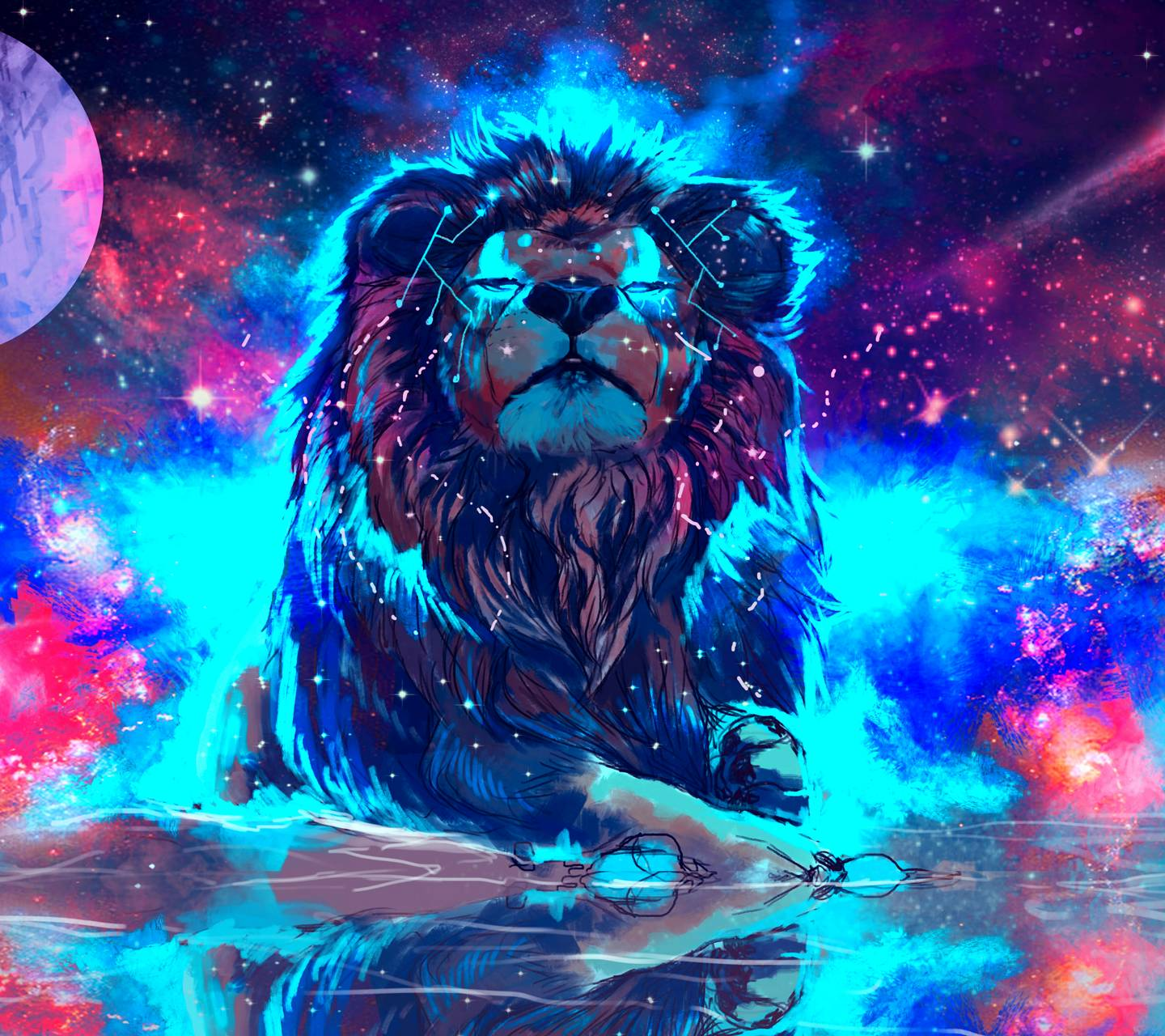 Free By Zedge: Rainbow Lion Wallpapers