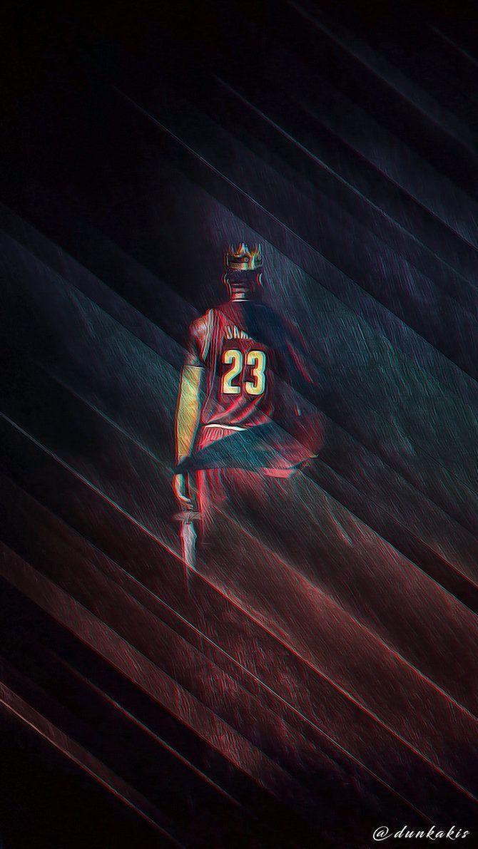 hot sale online 002b6 99329 NBA - LeBron James (v.2) - Wallpaper (mobile) by dunkakis