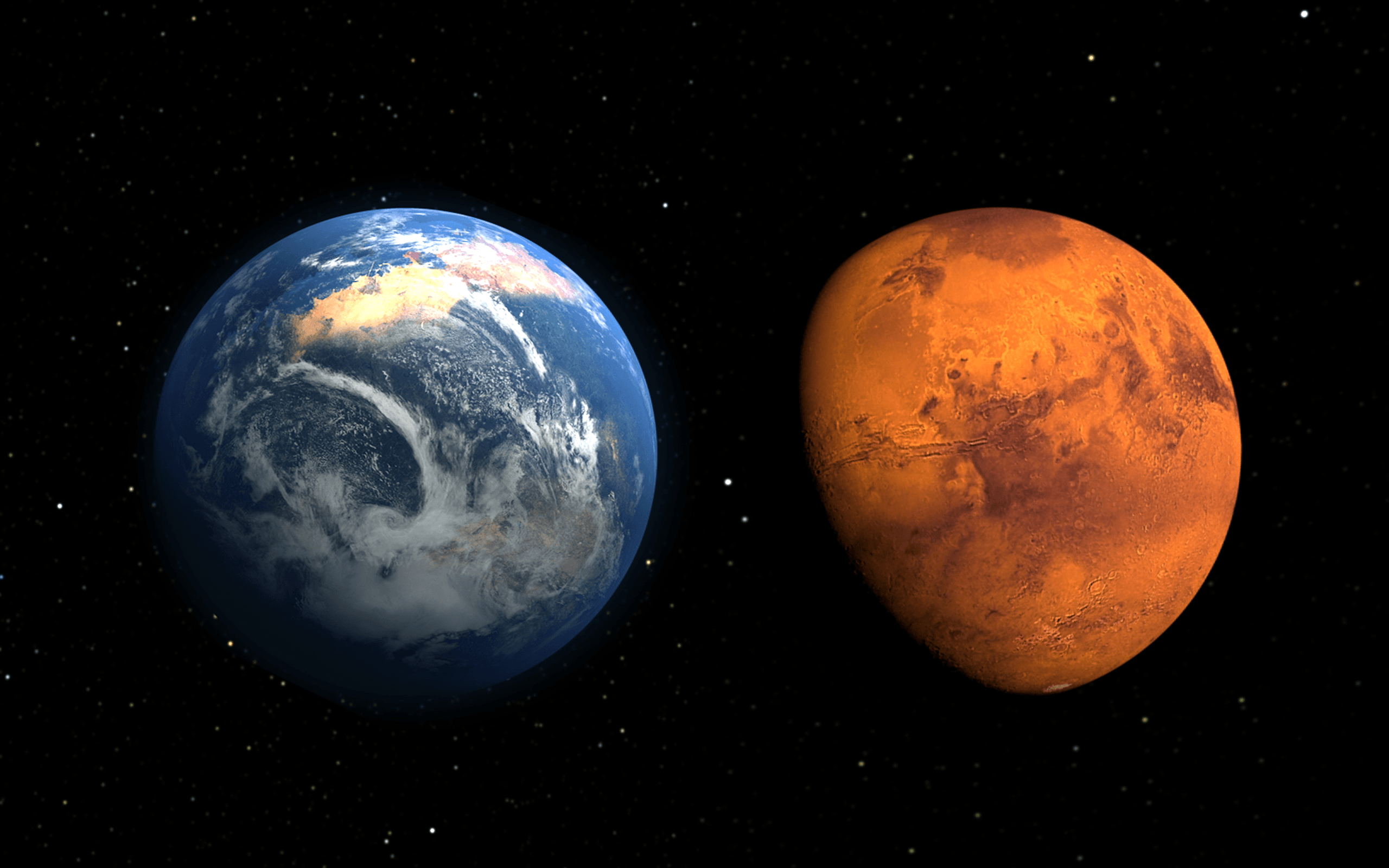 Earth And Mars Compare Hd Wallpapers : Wallpapers13