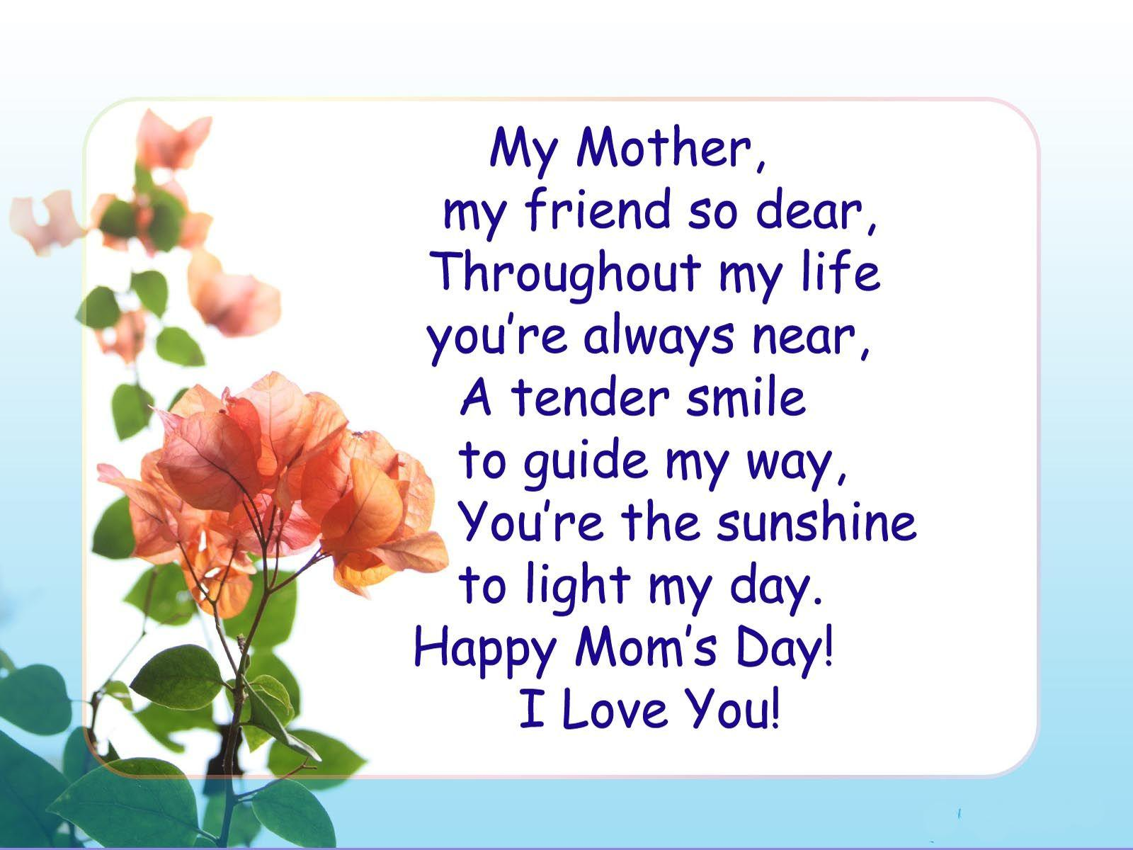 Top 5 Mother's Day Wallpapers Poems 2017 - | Mother's Day